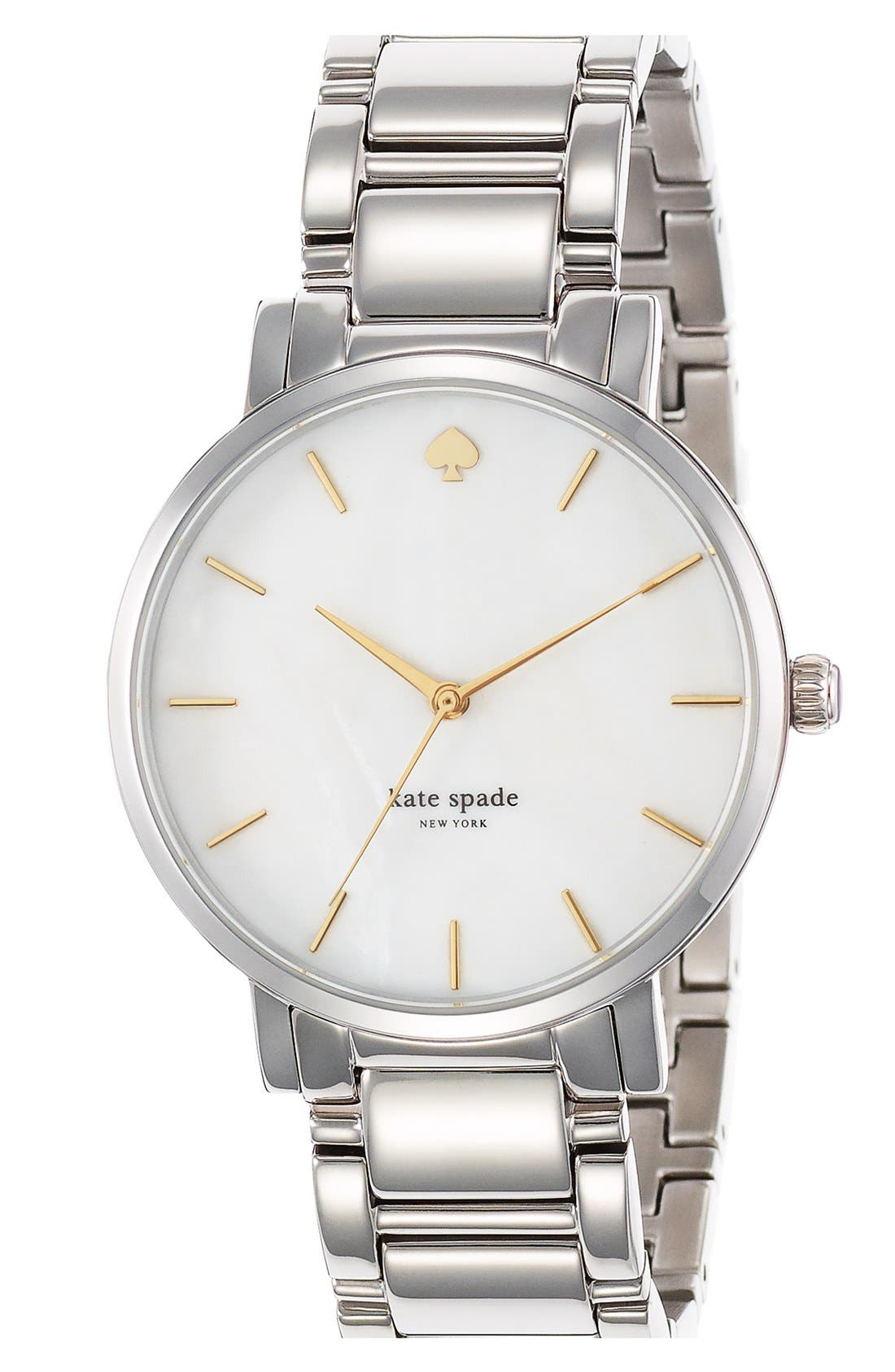 KATE SPADE NEW YORK, 'gramercy grand' bracelet watch, 38mm, Alternate thumbnail 2, color, 040