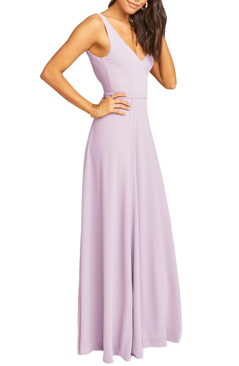83f7c2ddeb2 Show Me Your Mumu Jen Maxi Gown In Violet Chiffon
