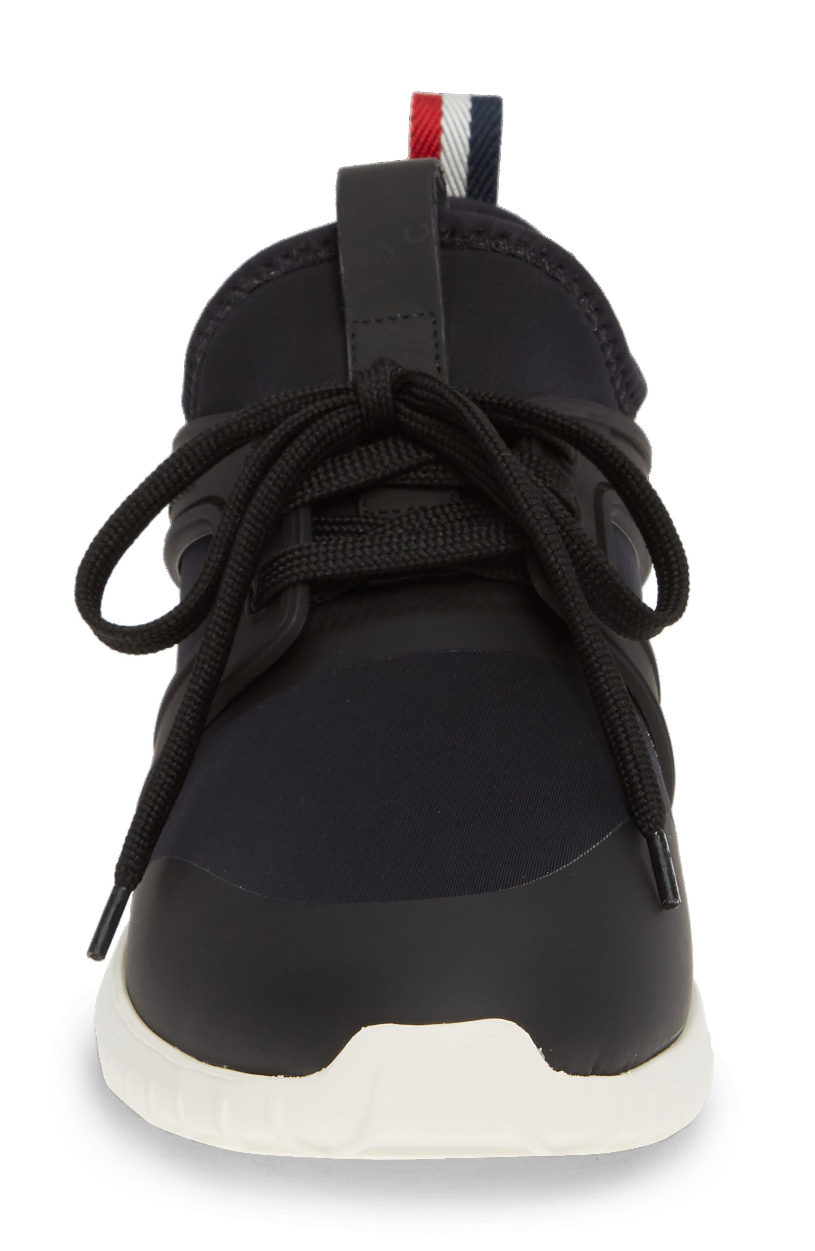 MONCLER, Meline Scarpa Sneaker, Alternate thumbnail 4, color, BLACK
