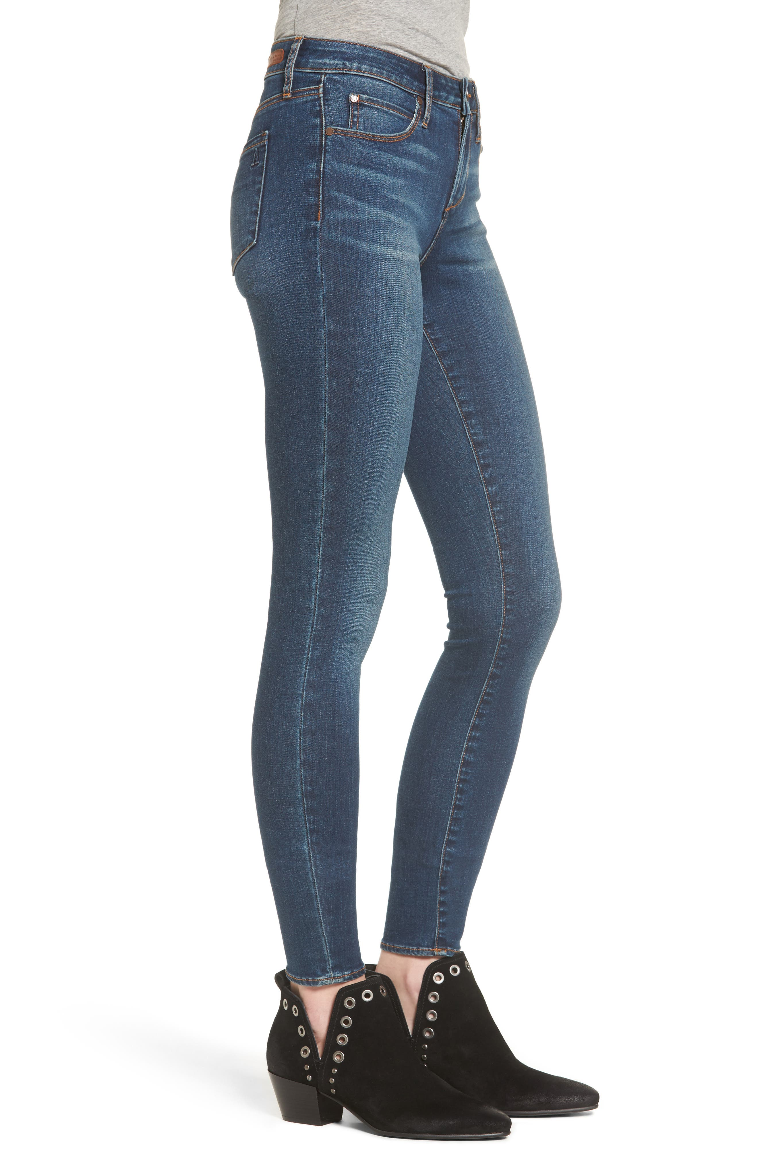 ARTICLES OF SOCIETY, Mya Skinny Jeans, Alternate thumbnail 3, color, 499