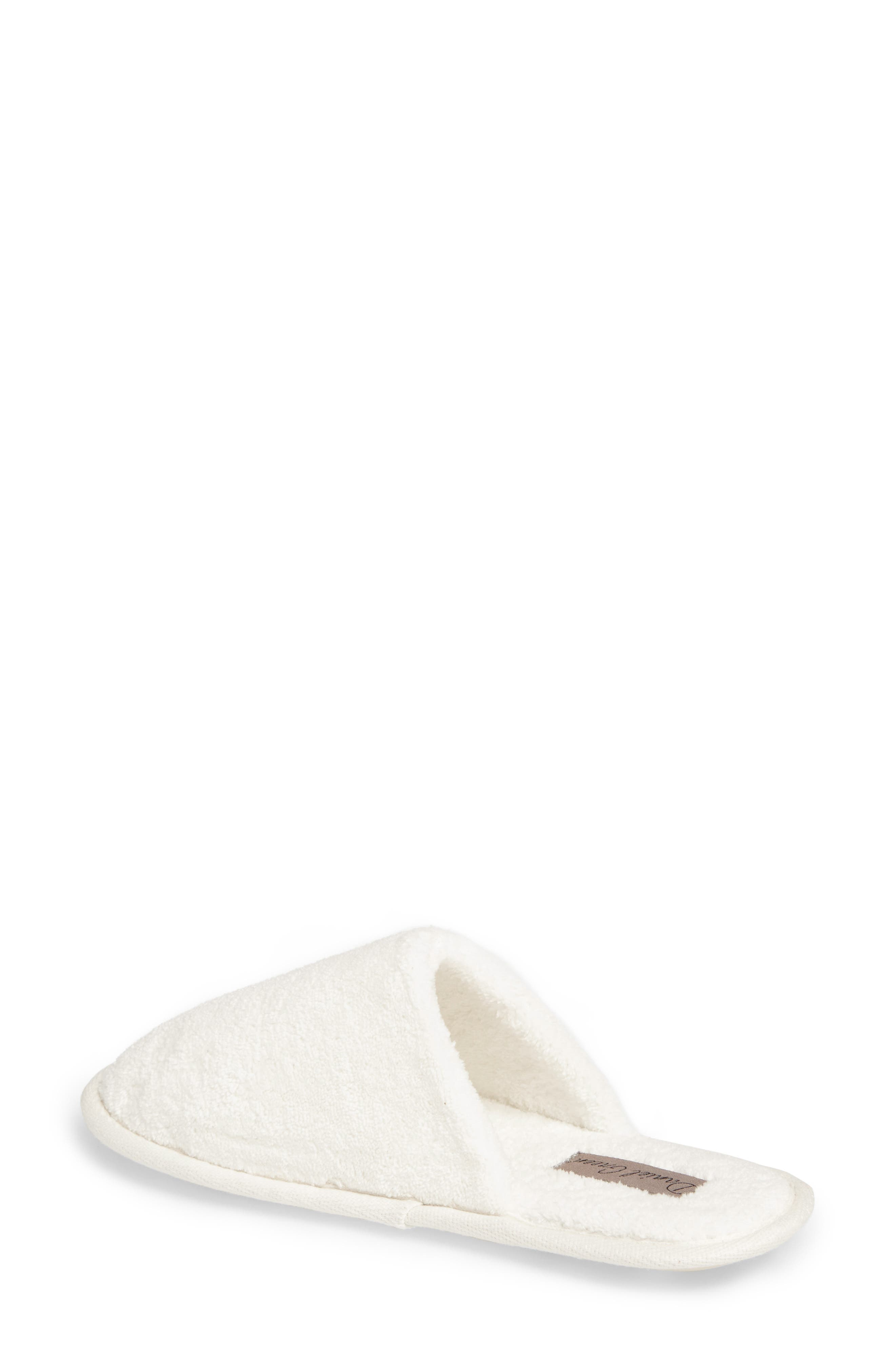 DANIEL GREEN, Rave II Slipper, Alternate thumbnail 2, color, WHITE FABRIC
