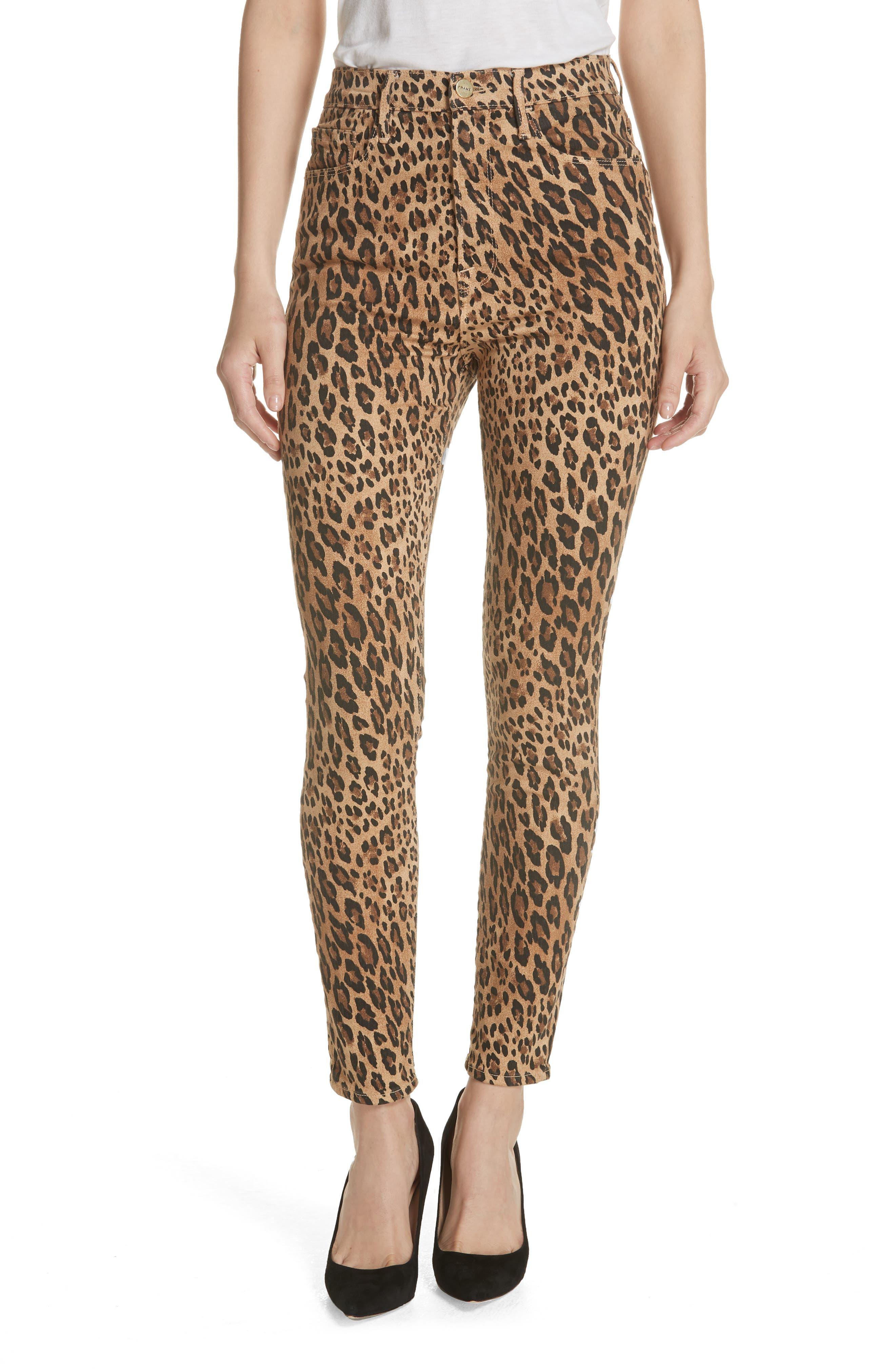 FRAME Ali High Waist Cigarette Skinny Jeans, Main, color, CAMEL MULTI