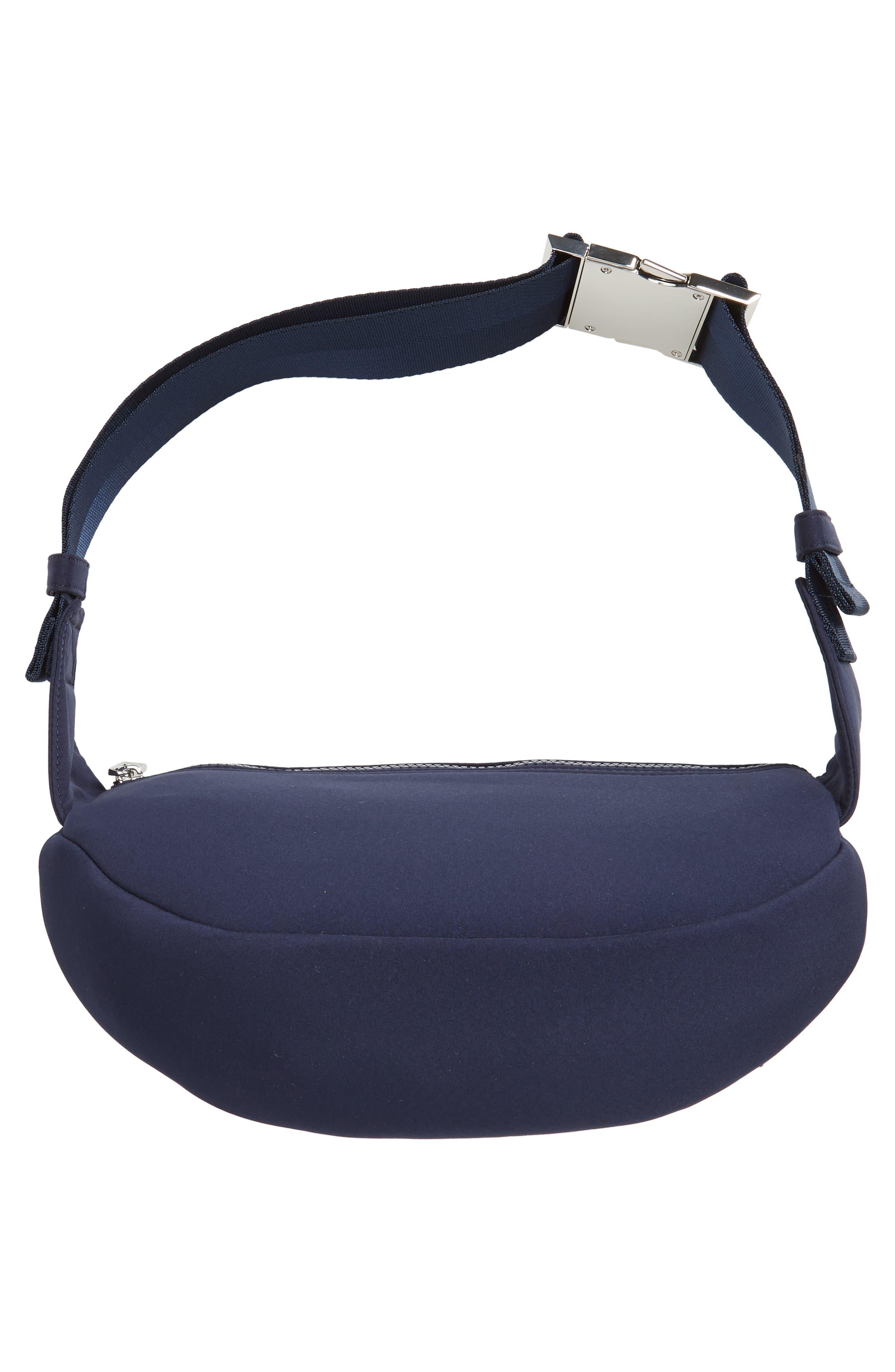 KENZO, Embroidered Tiger Belt Bag, Alternate thumbnail 7, color, 76A NAVY BLUE