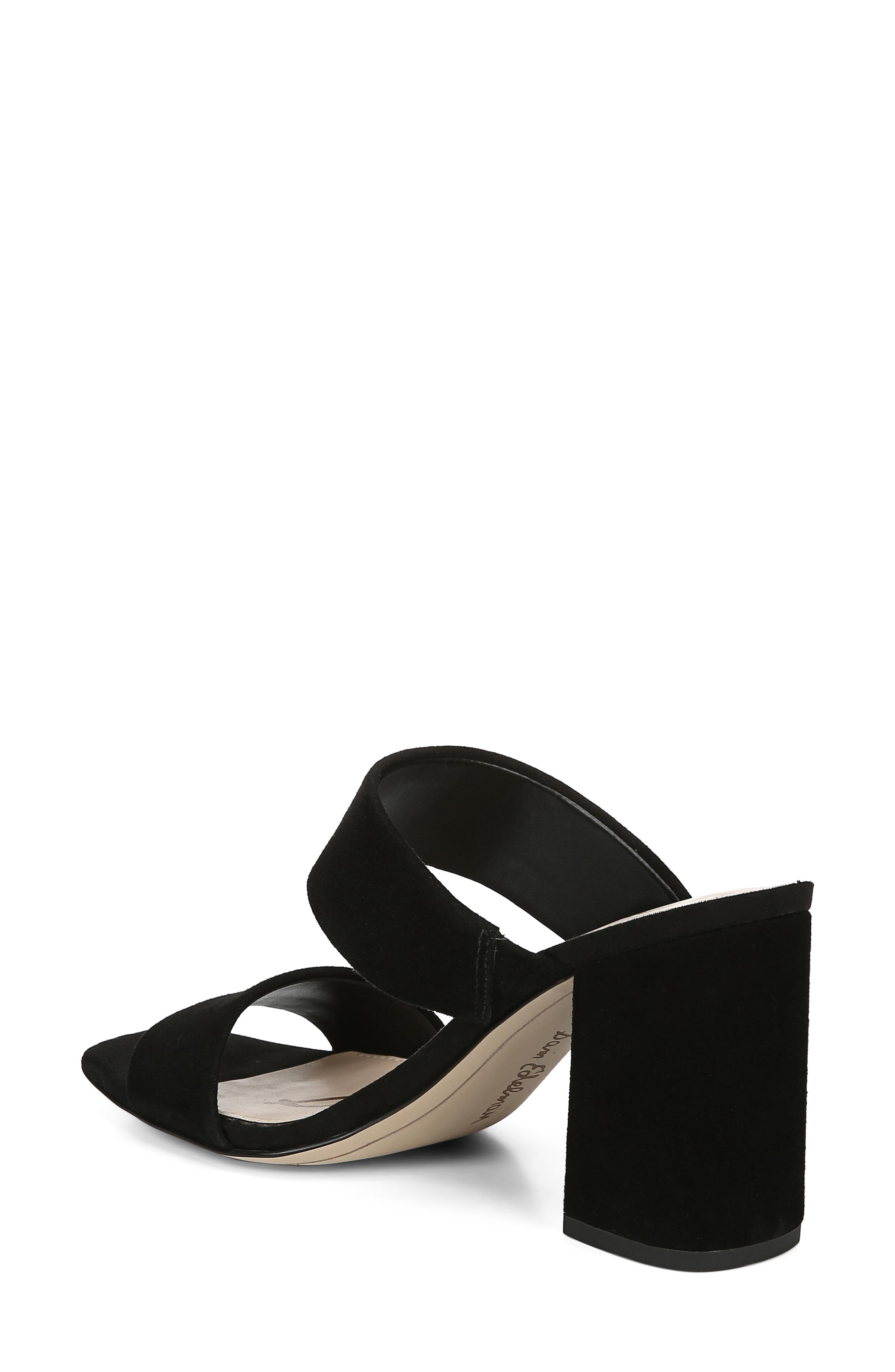 SAM EDELMAN, Delaney Sandal, Alternate thumbnail 2, color, BLACK SUEDE