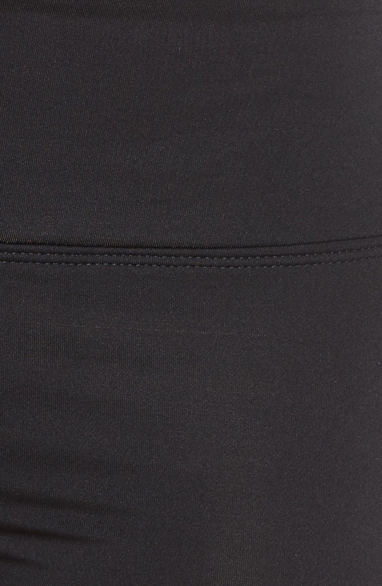 NIKE, Kick Swim Shorts, Alternate thumbnail 6, color, BLACK