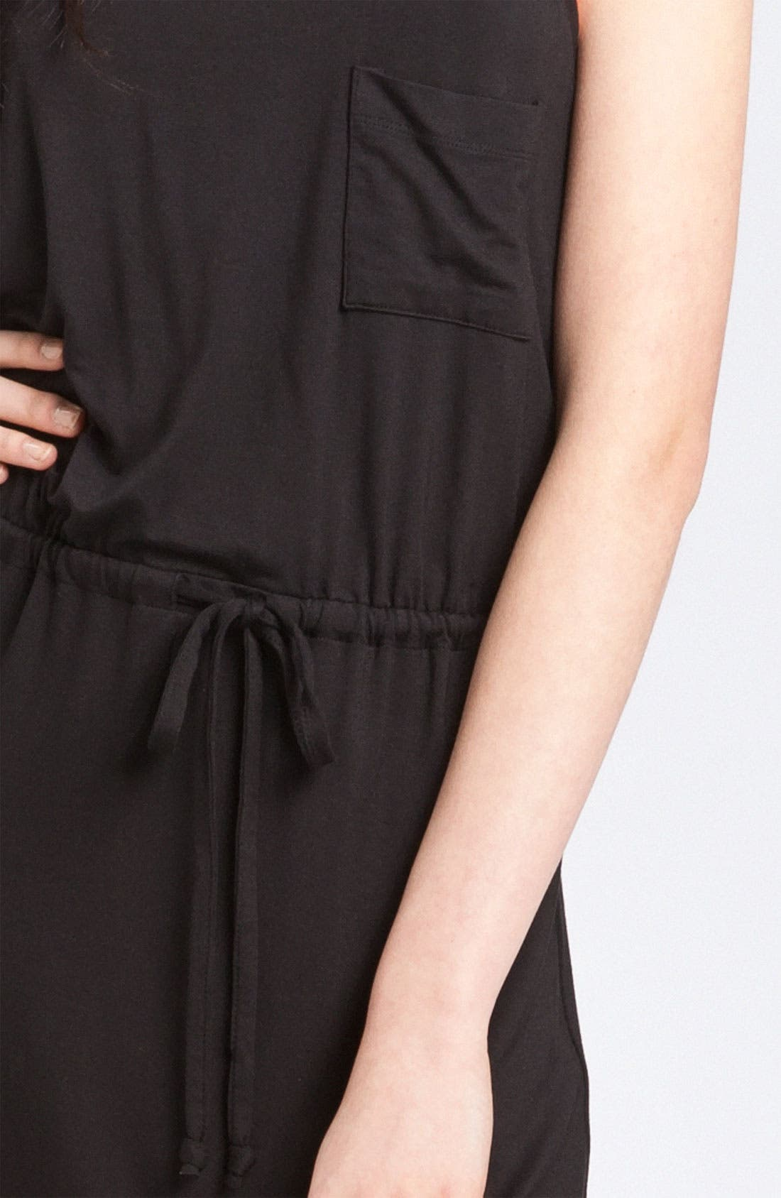 CASLON<SUP>®</SUP>, Racerback Jersey Maxi Dress, Alternate thumbnail 3, color, 001