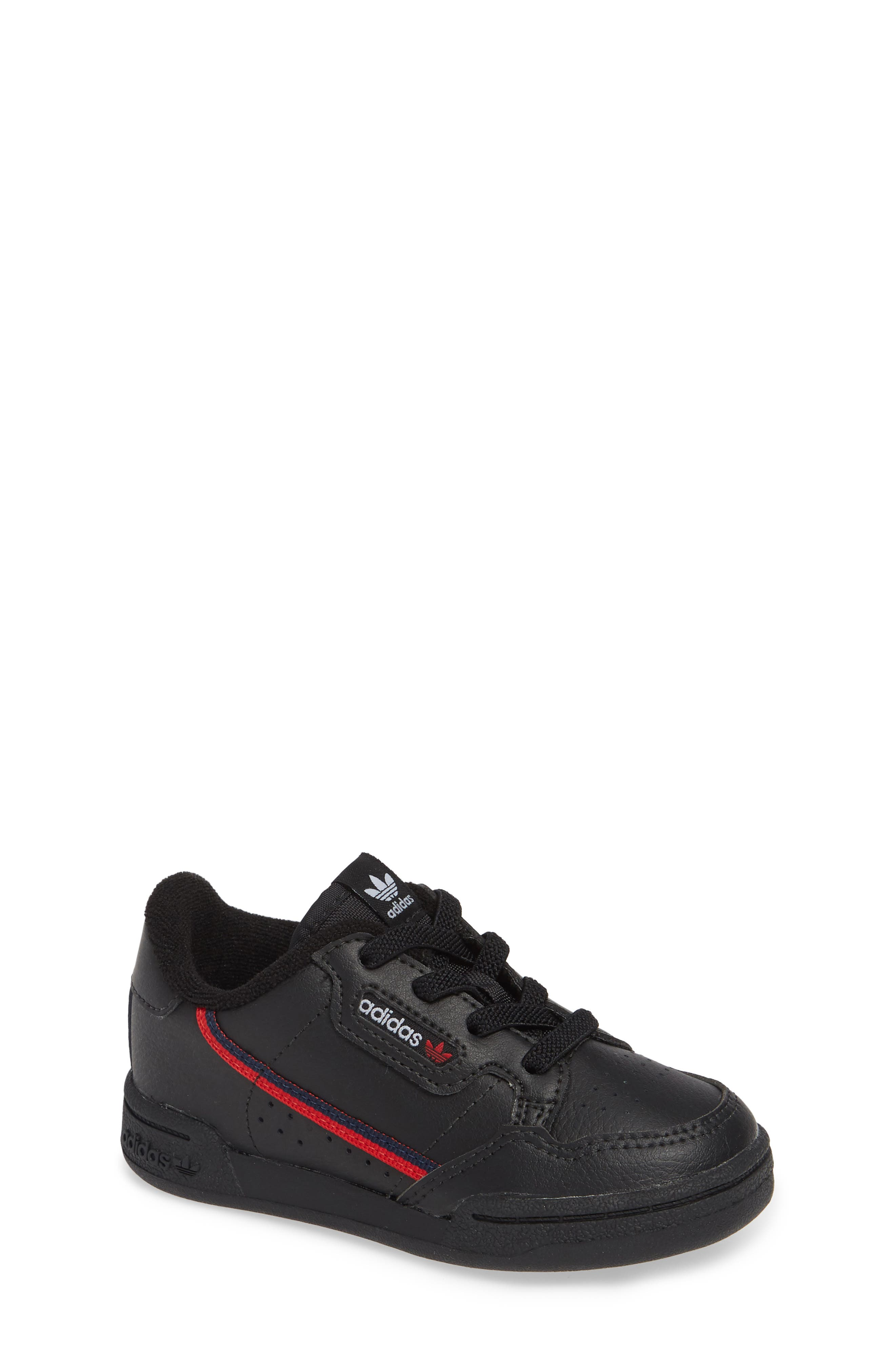 ADIDAS Continental 80 Sneaker, Main, color, CORE BLACK/ SCARLET/ NAVY