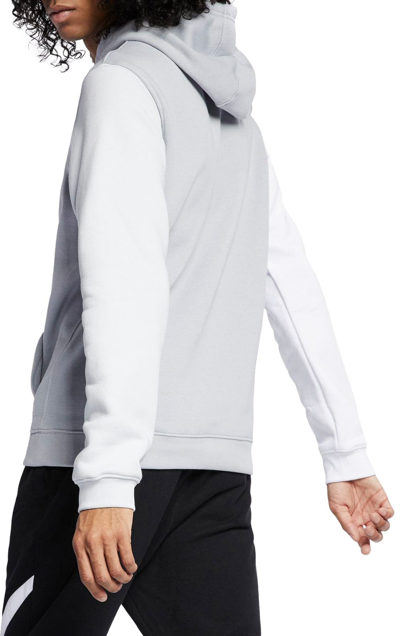 NIKE, Sportswear City Brights Club Men's Pullover Hoodie, Alternate thumbnail 2, color, WOLF GREY/ WHITE/ PLATINUM