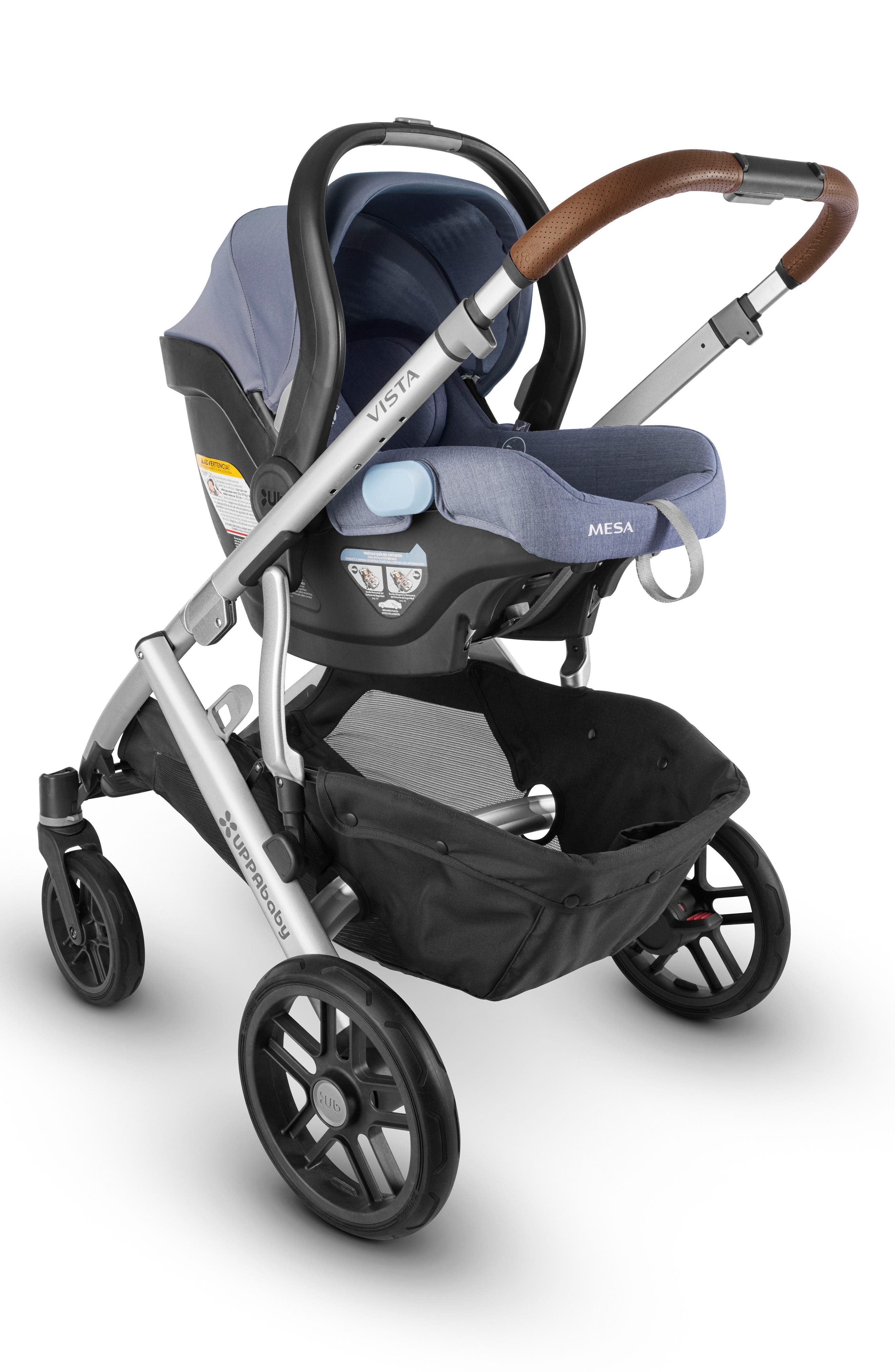 UPPABABY, MESA Henry Special Edition Car Seat, Alternate thumbnail 5, color, BLUE MARL
