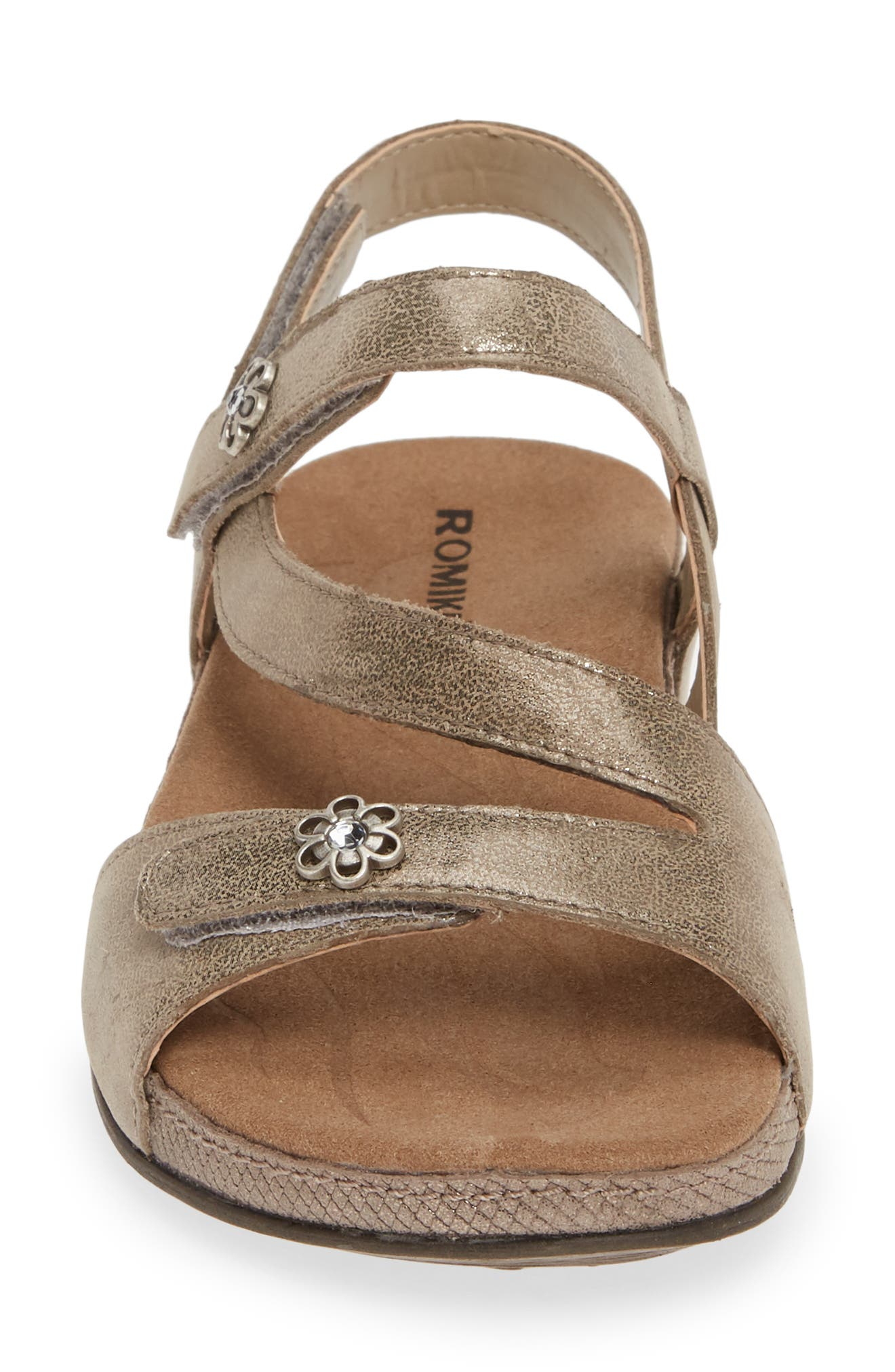 ROMIKA<SUP>®</SUP>, Fidschi 54 Sandal, Alternate thumbnail 4, color, BRONZE LEATHER