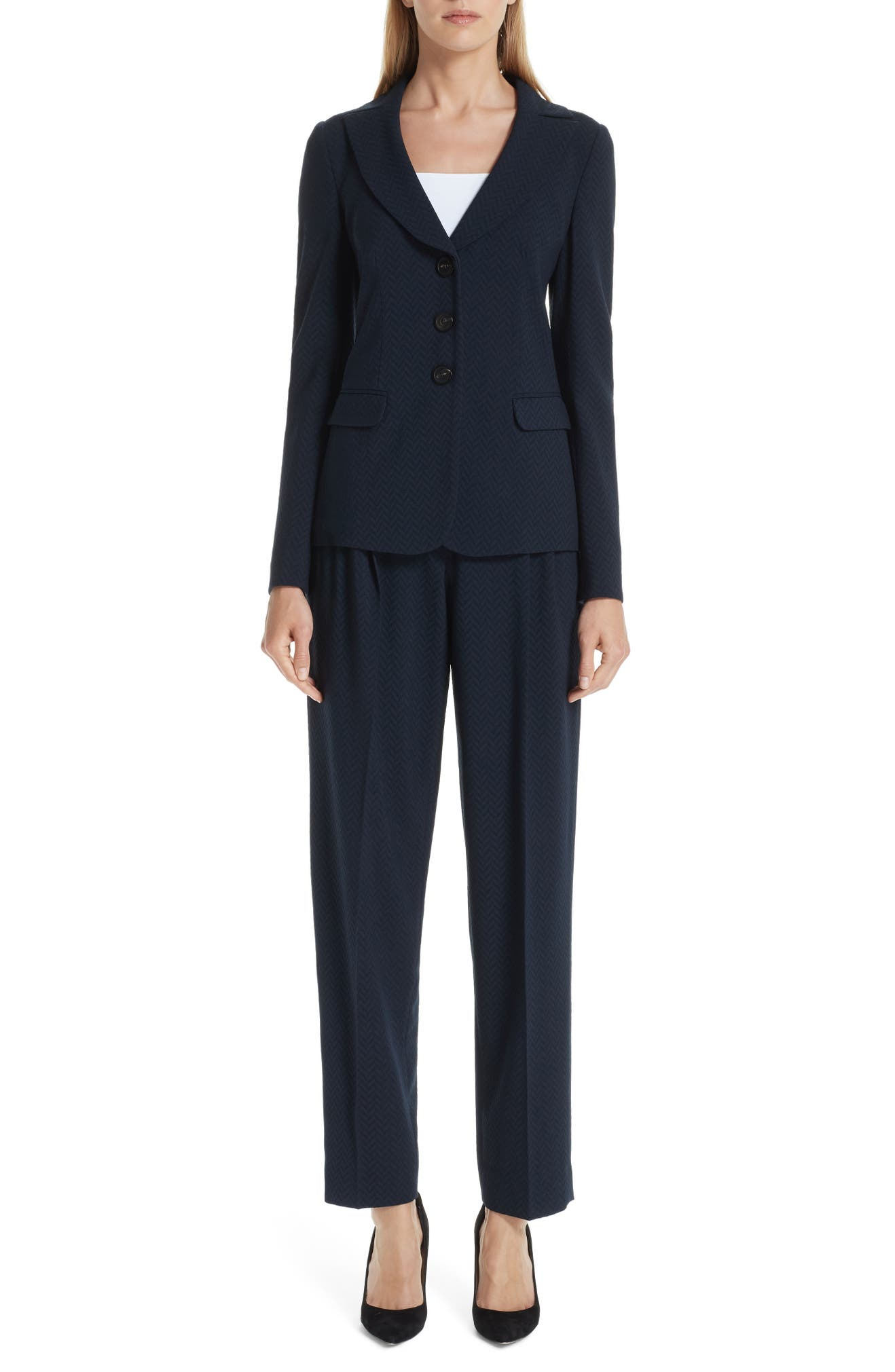 311fa6ebd8 Emporio Armani Stretch Wool Pants | Nordstrom