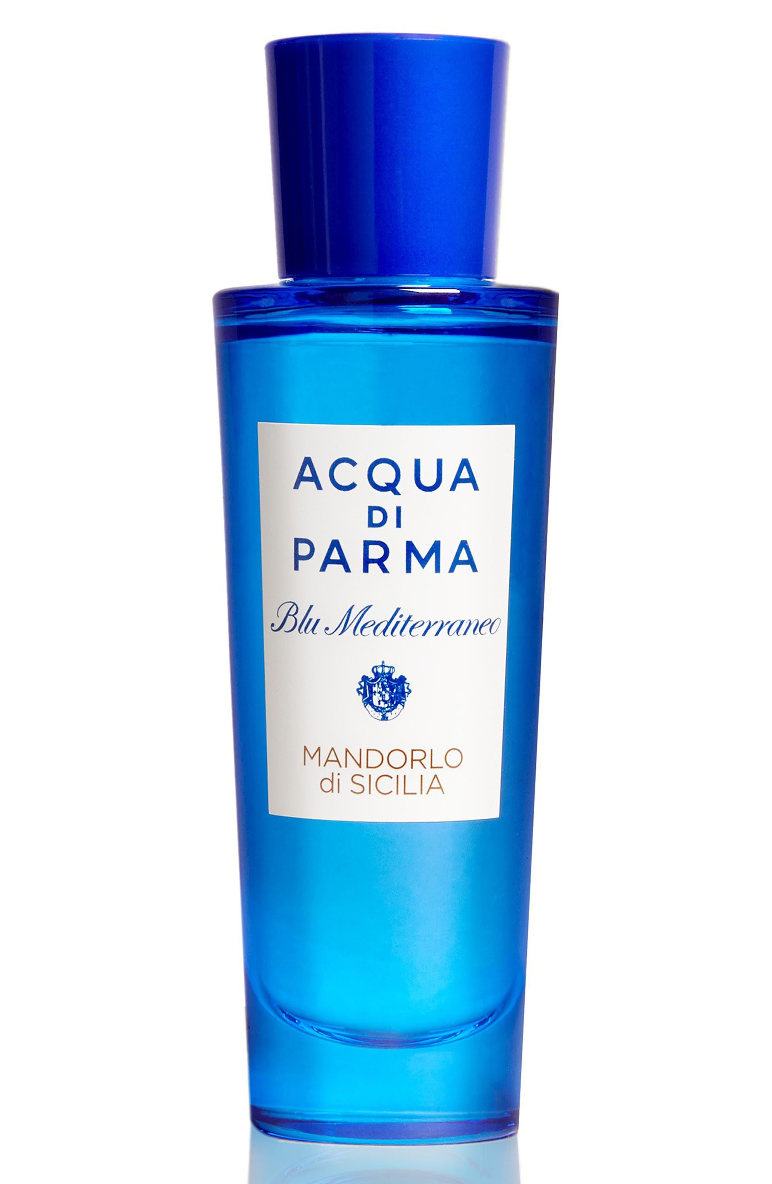ACQUA DI PARMA, 'Blu Mediterraneo' Mandorlo di Sicilia Eau de Toilette Spray, Alternate thumbnail 8, color, NO COLOR