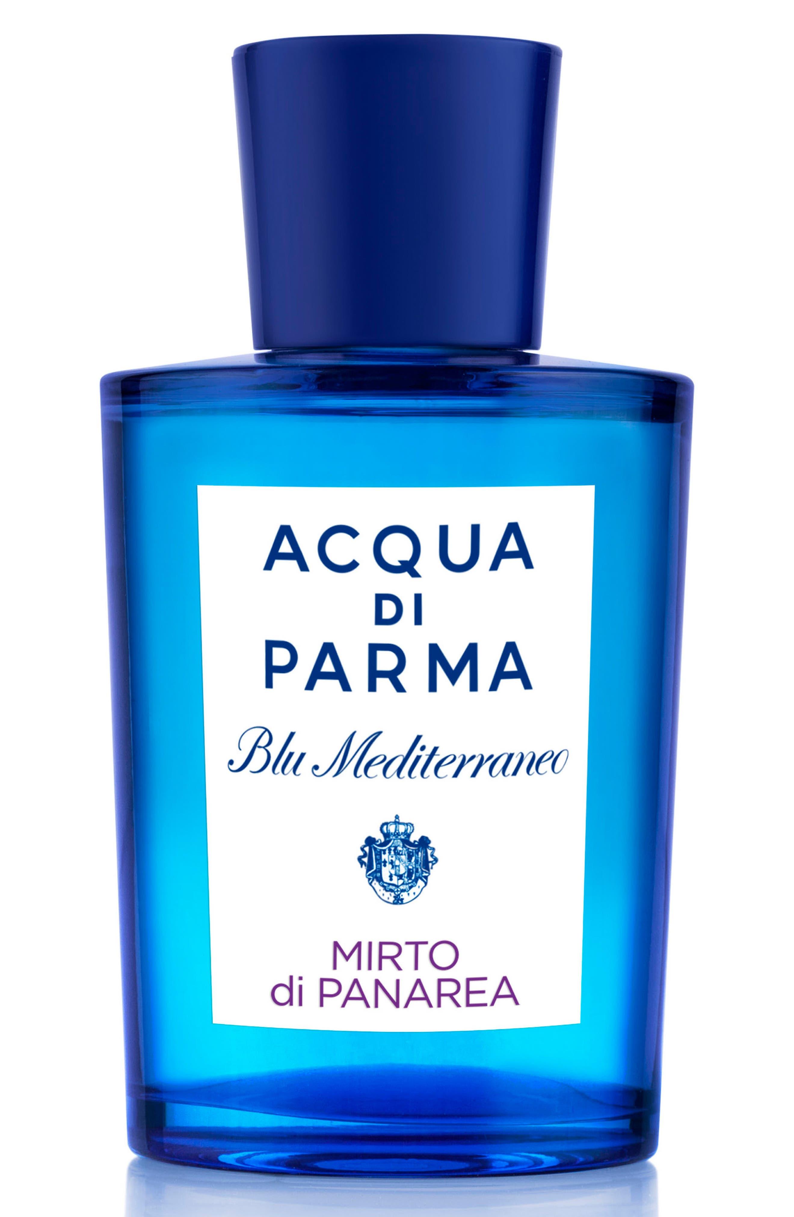 ACQUA DI PARMA, 'Blu Mediterraneo' Mirto di Panarea Eau de Toilette Spray, Main thumbnail 1, color, NO COLOR