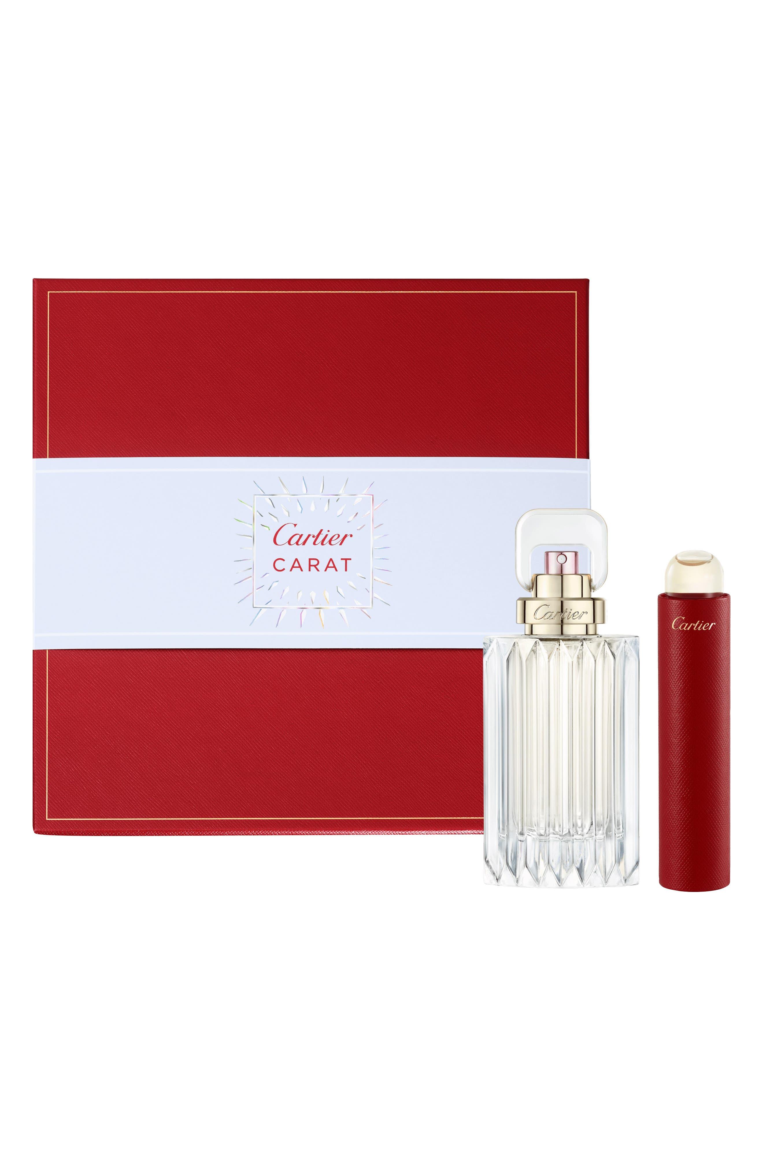 CARTIER, Carat Eau de Parfum Set, Main thumbnail 1, color, NO COLOR