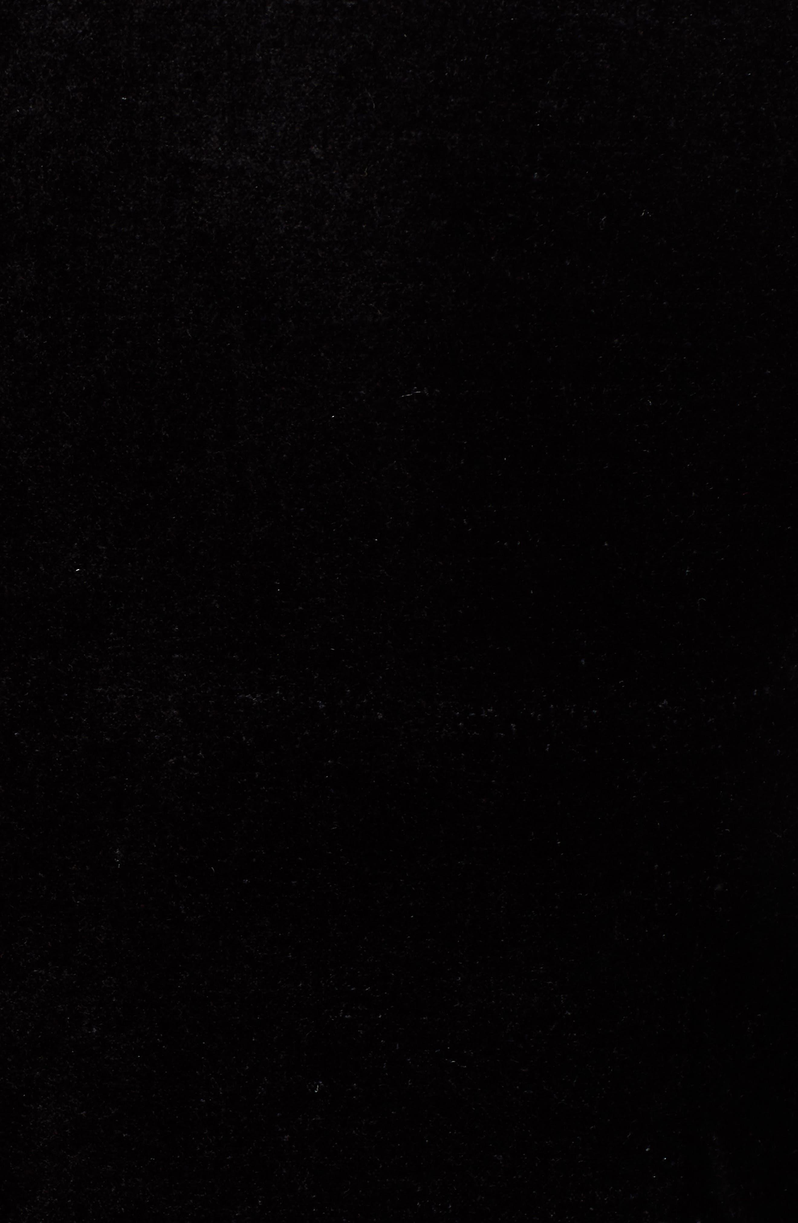 JEN7 BY 7 FOR ALL MANKIND, Stretch Cotton Velvet Blazer, Alternate thumbnail 7, color, BLACK