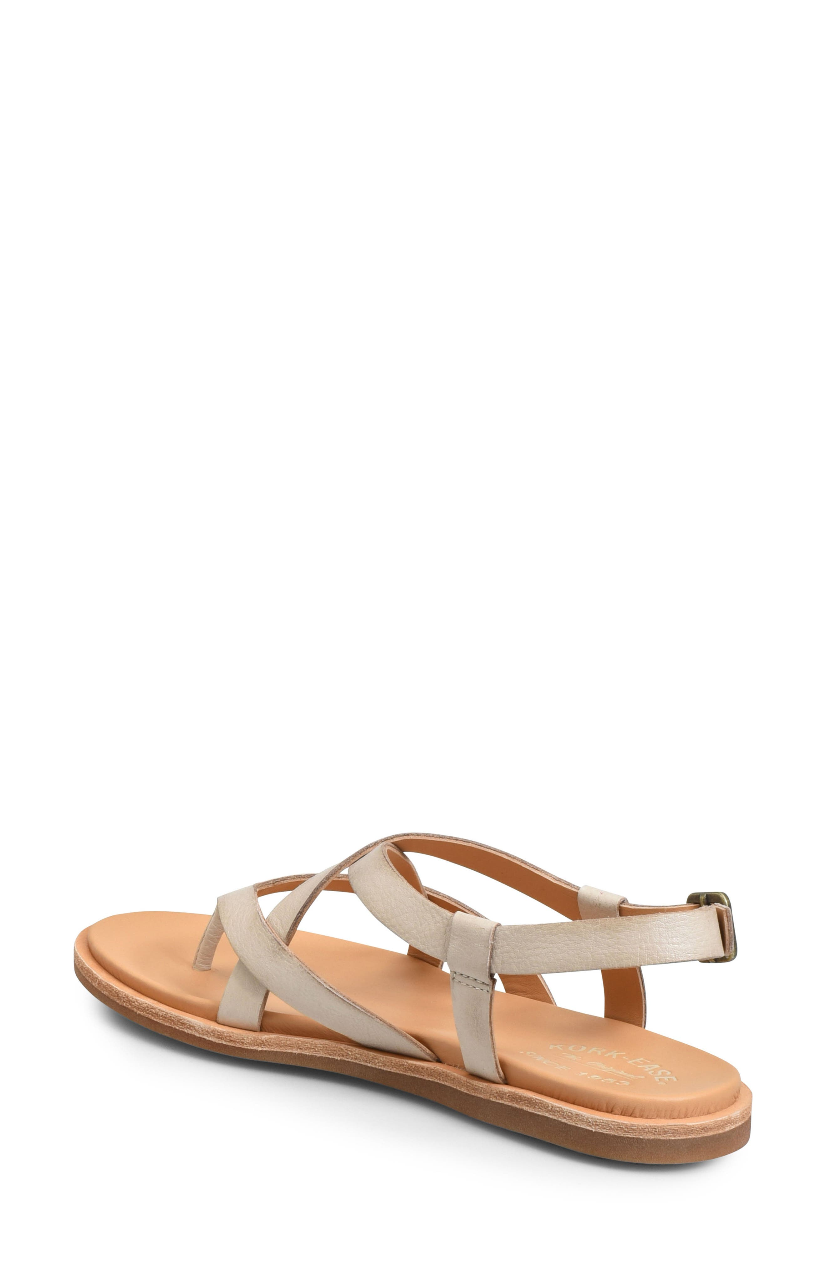 KORK-EASE<SUP>®</SUP>, Yarbrough Sandal, Alternate thumbnail 2, color, LIGHT GREY LEATHER