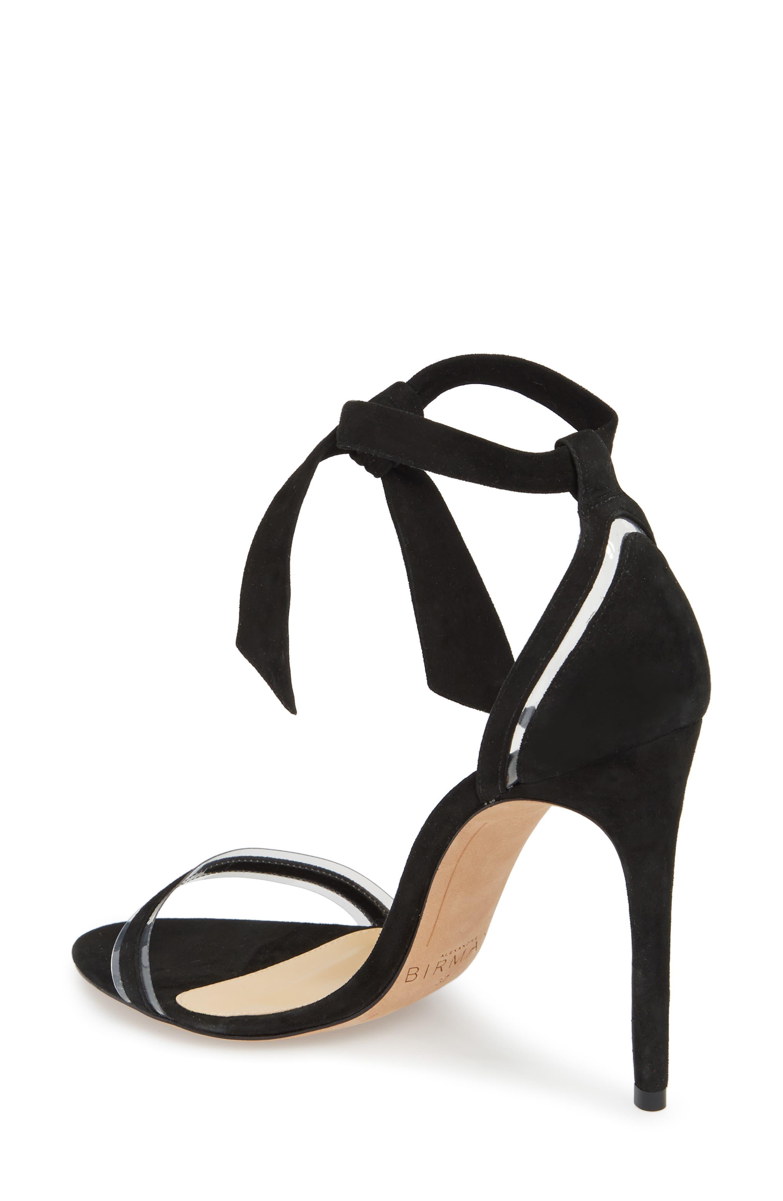 ALEXANDRE BIRMAN, Clarita Clear Ankle Tie Sandal, Alternate thumbnail 2, color, BLACK/ TRANSPARENT