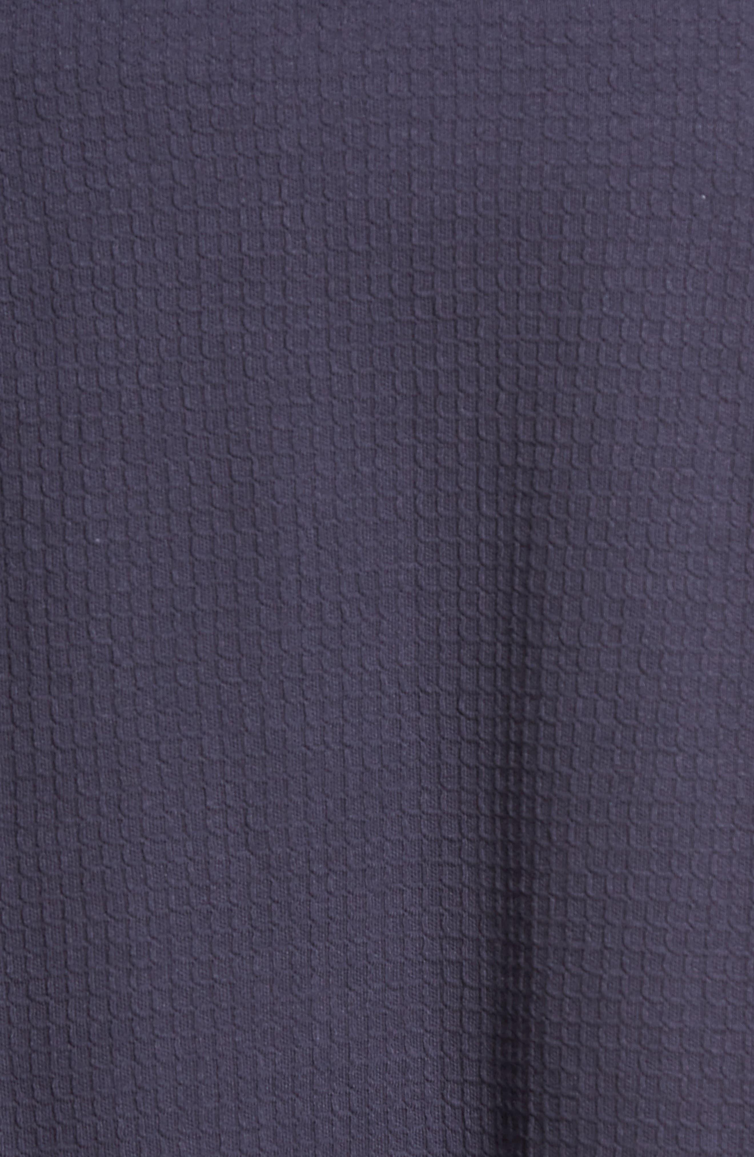 MAJESTIC INTERNATIONAL, Waffle Knit Robe, Alternate thumbnail 5, color, NAVY