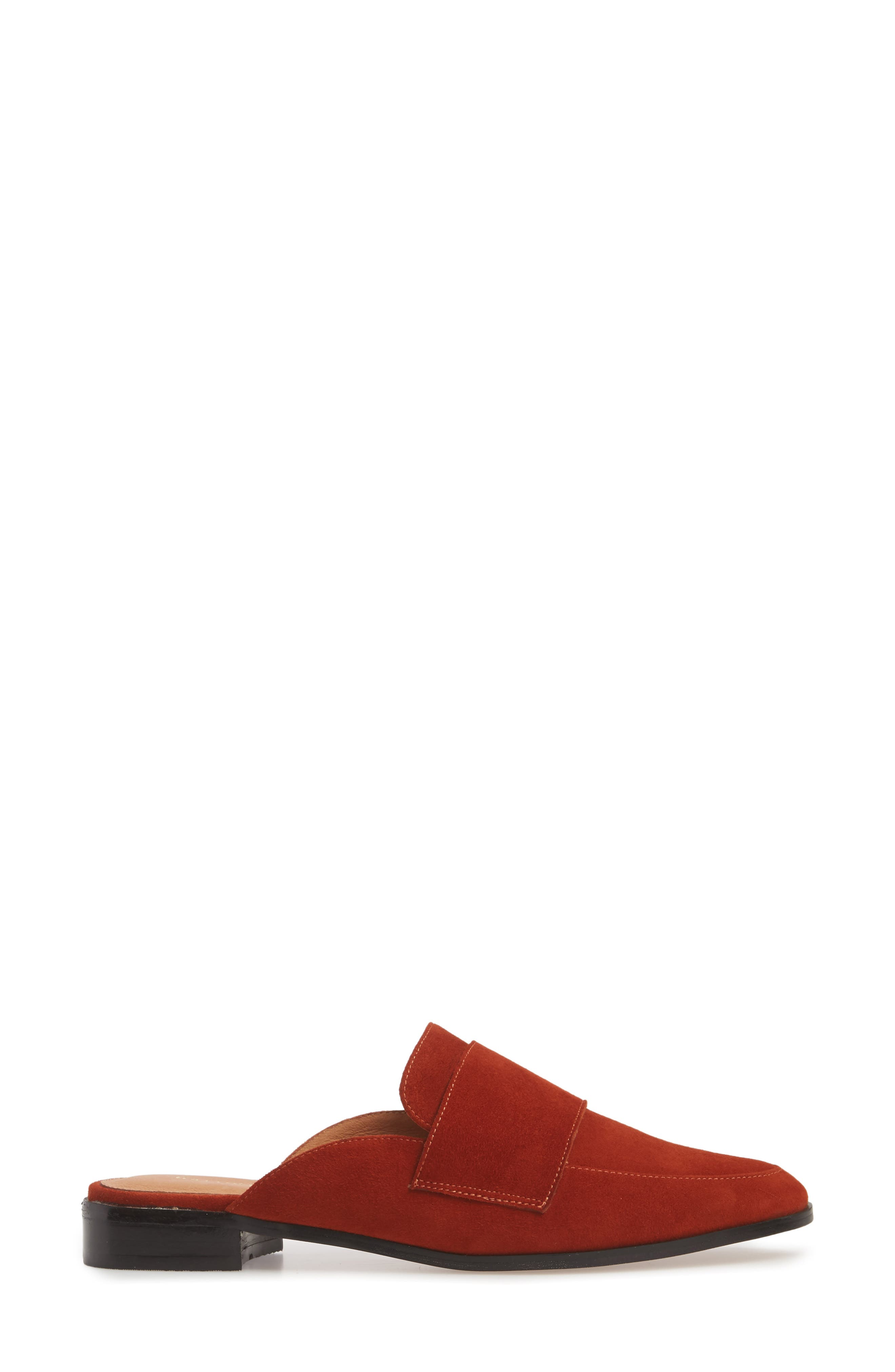 HALOGEN<SUP>®</SUP>, Violet Genuine Calf Hair Mule, Alternate thumbnail 3, color, 201