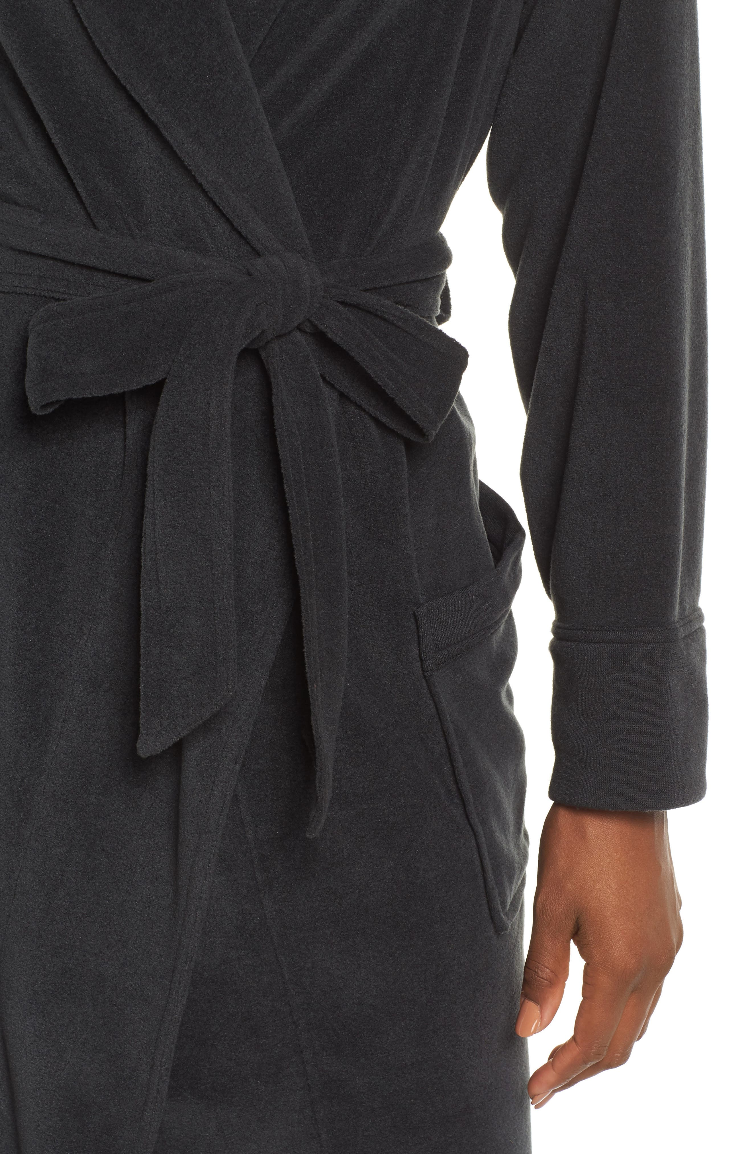 FELINA, Lourdes Robe, Alternate thumbnail 4, color, BLACK