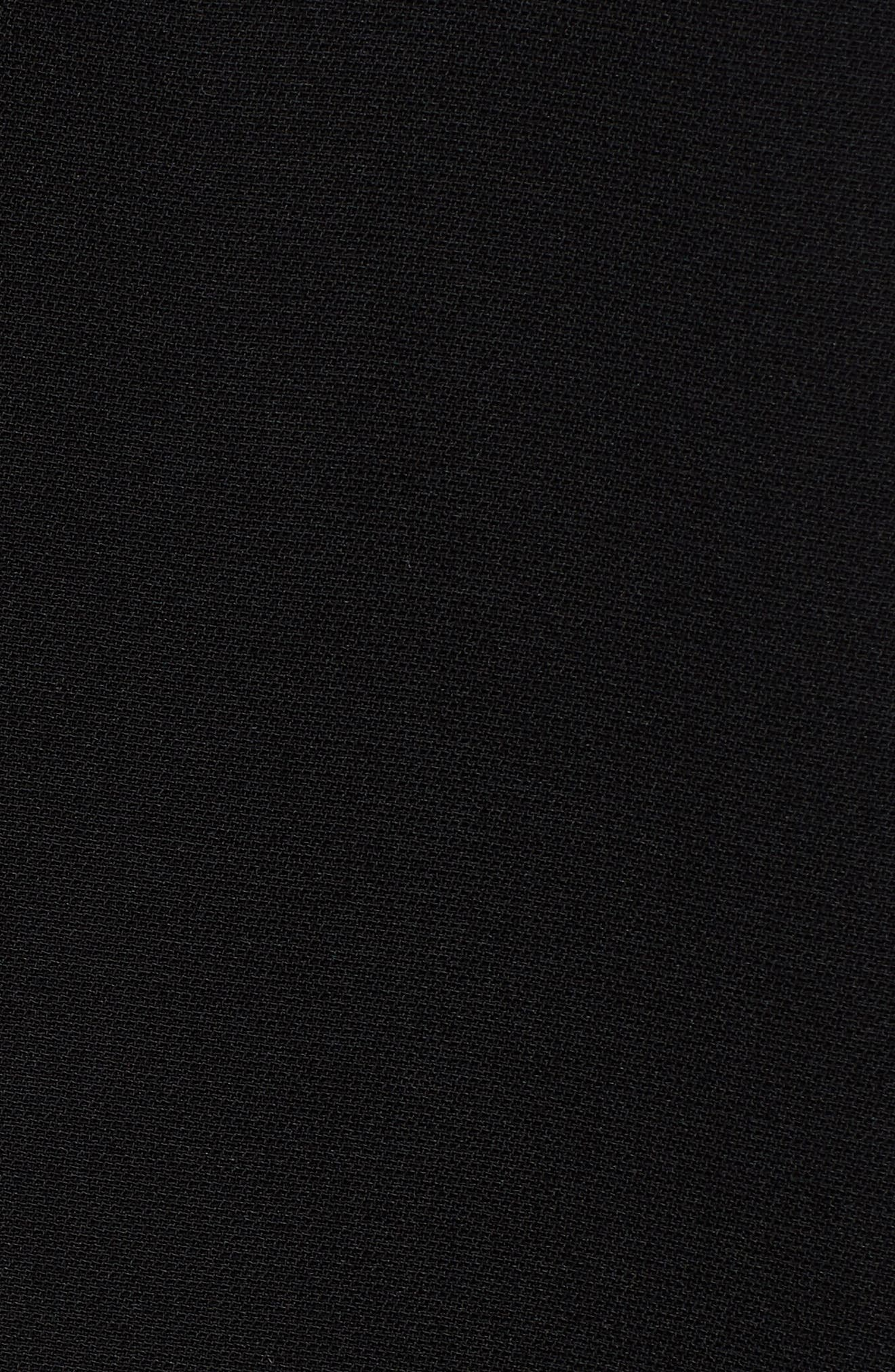 EVERLEIGH, Roll Tab Sleeve Tunic, Alternate thumbnail 5, color, BLACK