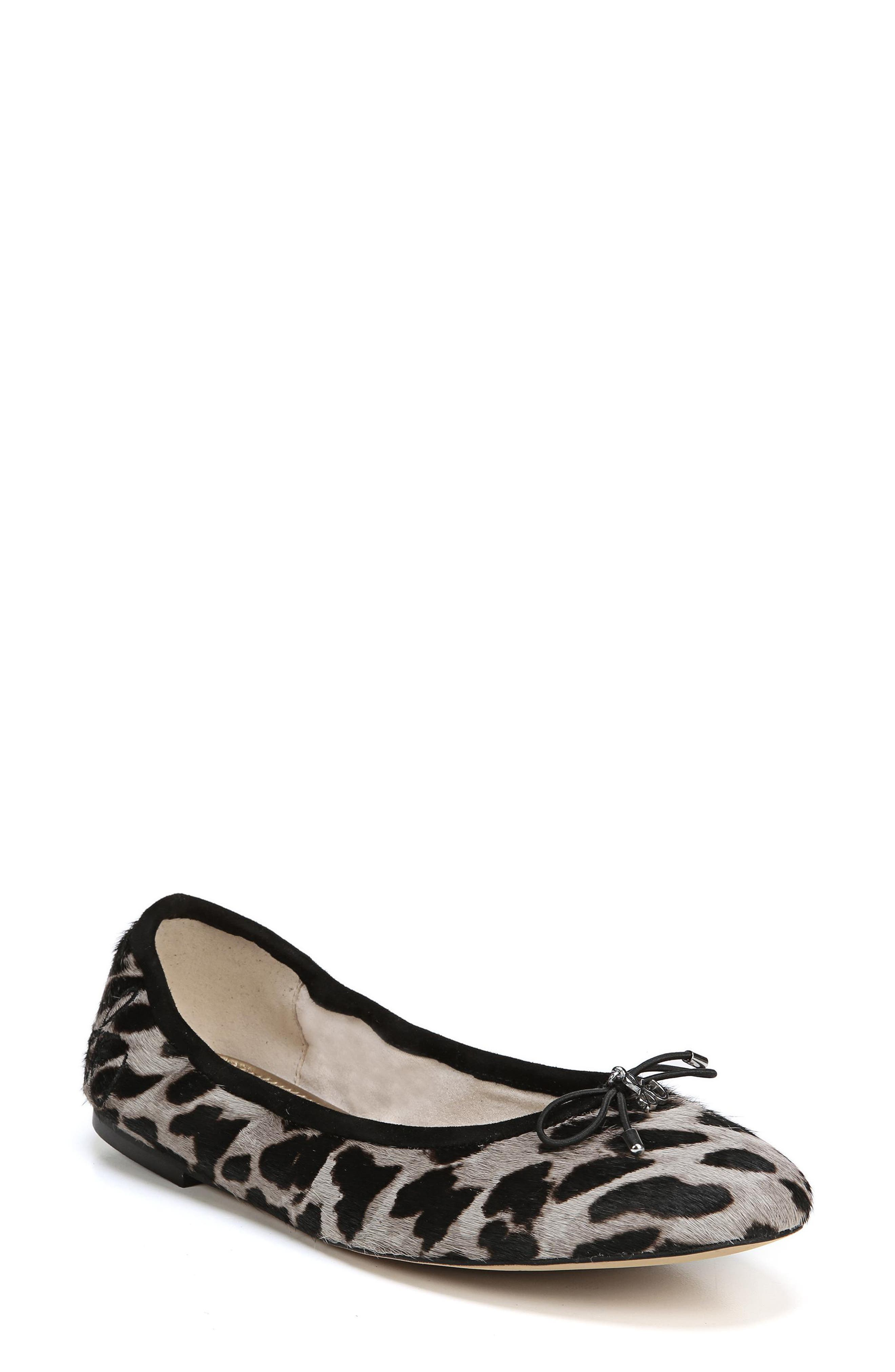 SAM EDELMAN, Felicia Flat, Main thumbnail 1, color, CLOUDED LEOPARD BRAHMA HAIR