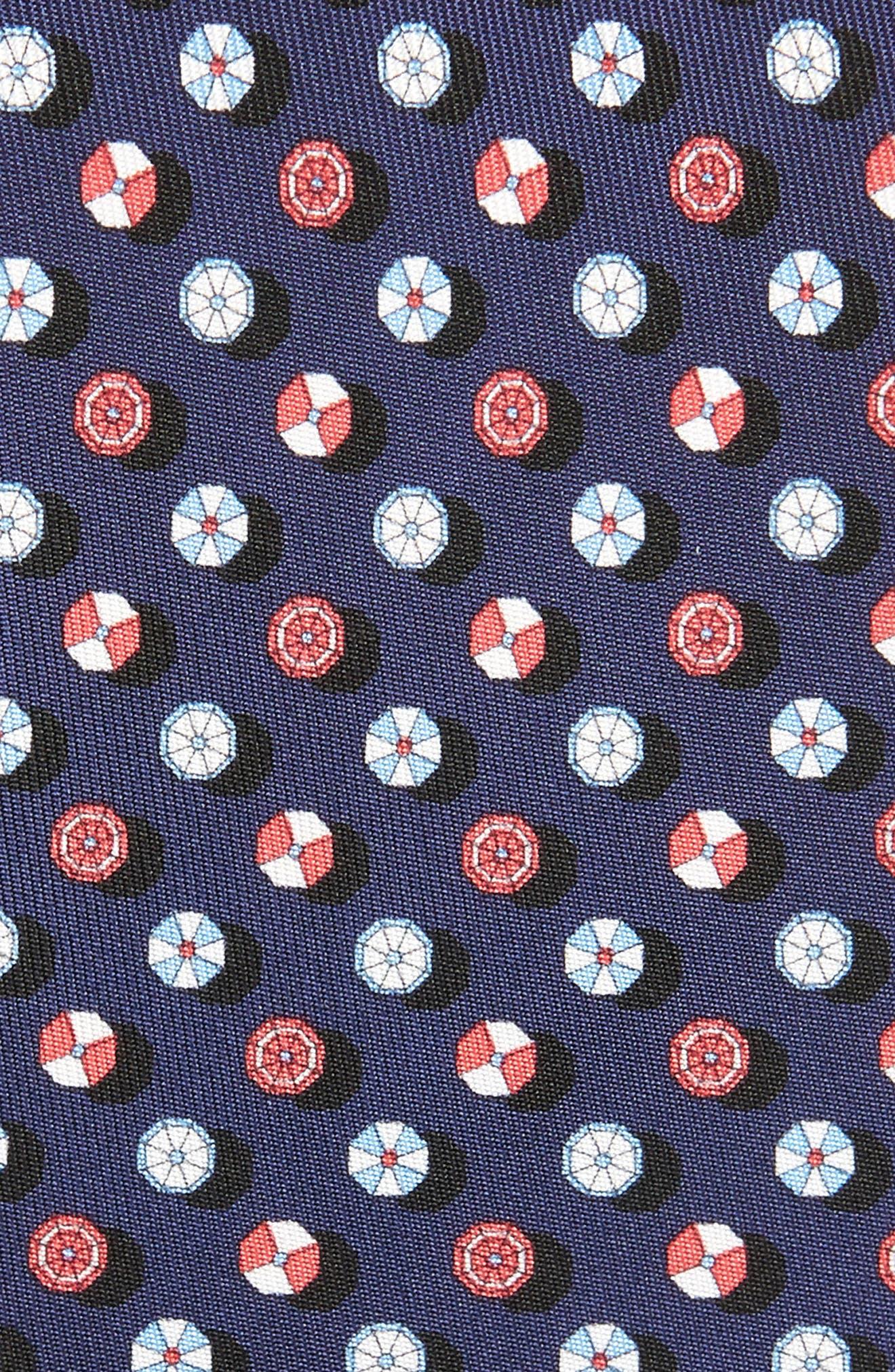 SALVATORE FERRAGAMO, Geneve Silk Tie, Alternate thumbnail 2, color, GREY