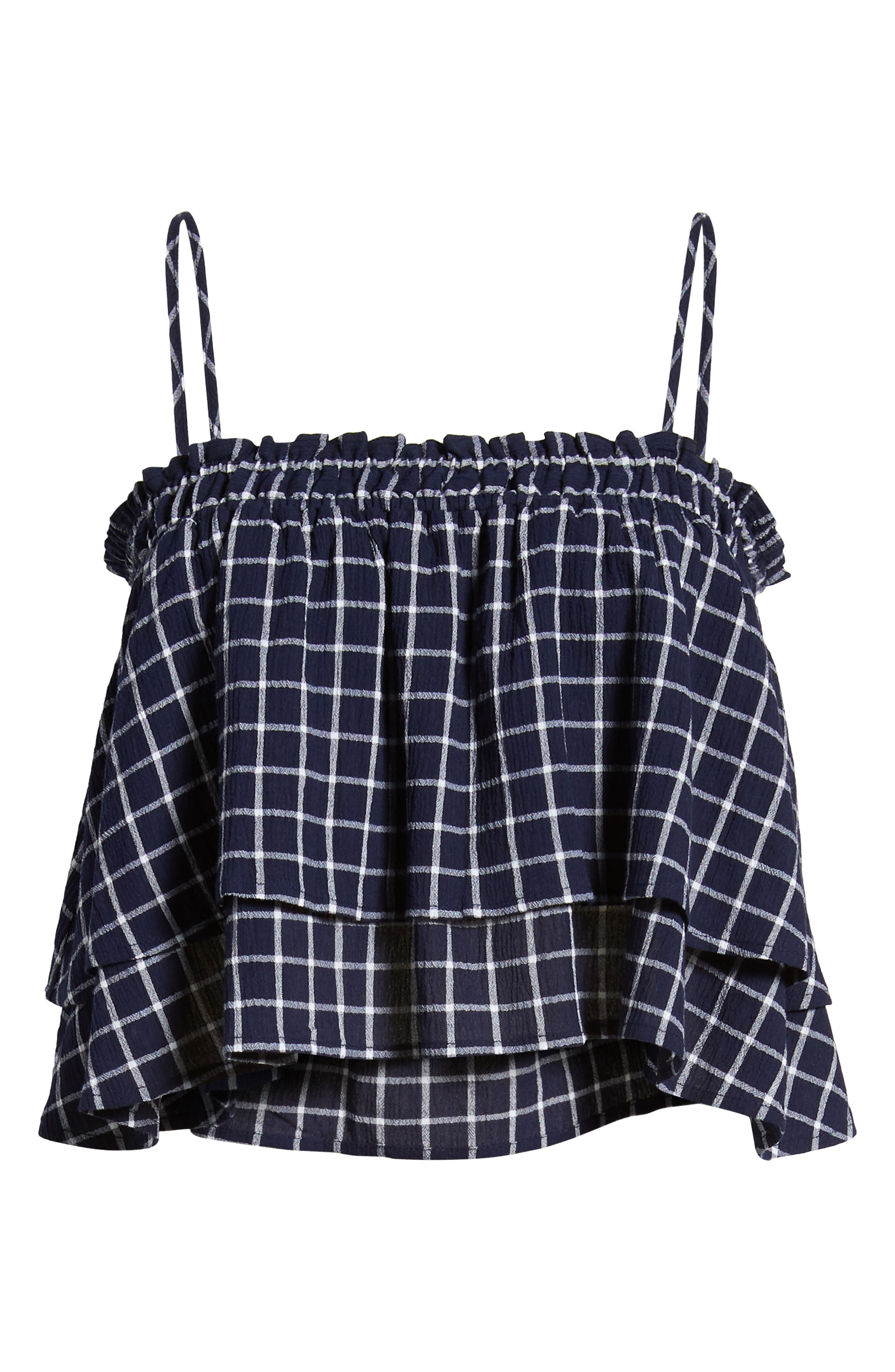 BP., Plaid Tiered Tank, Alternate thumbnail 6, color, 401