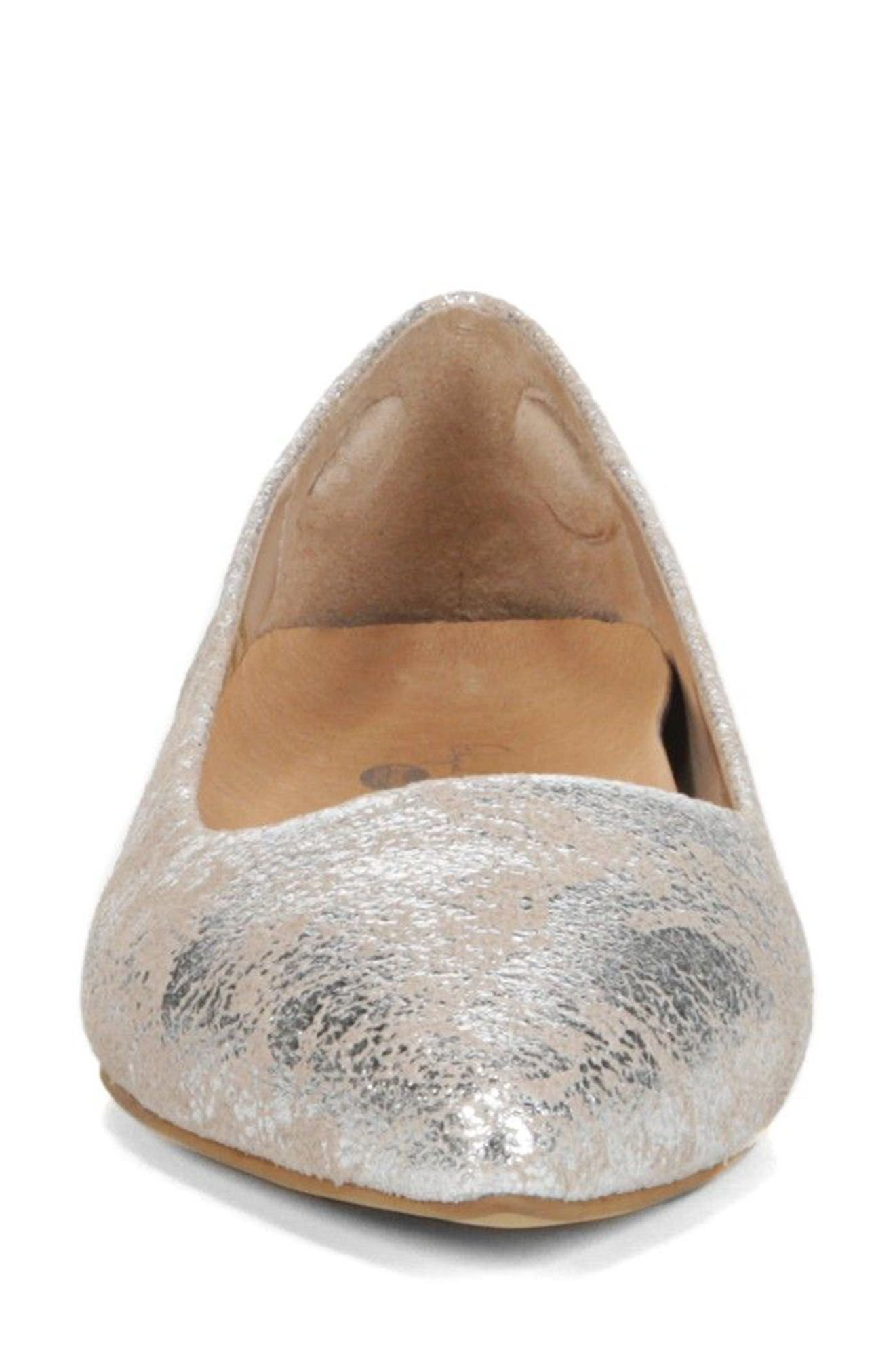 DR. SCHOLL'S, Original Collection Kimber Flat, Alternate thumbnail 4, color, PEWTER LEATHER