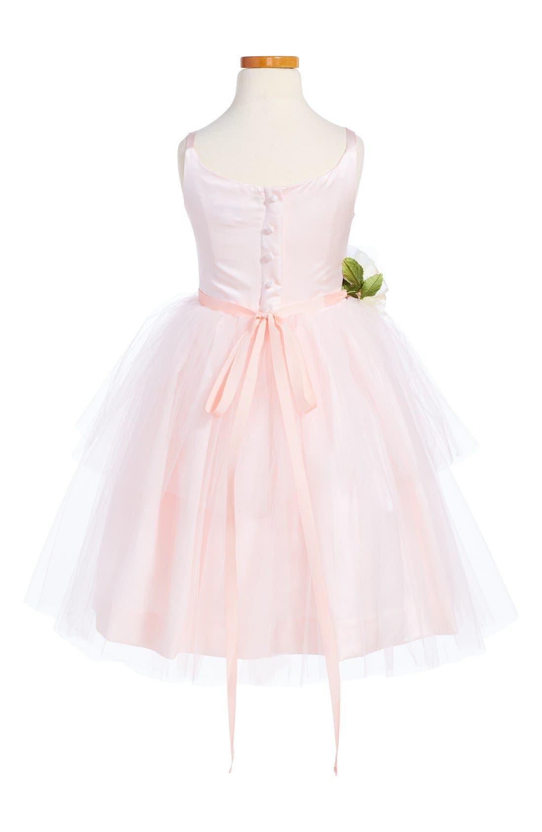 US ANGELS, Tulle Ballerina Dress, Alternate thumbnail 4, color, BLUSH PINK