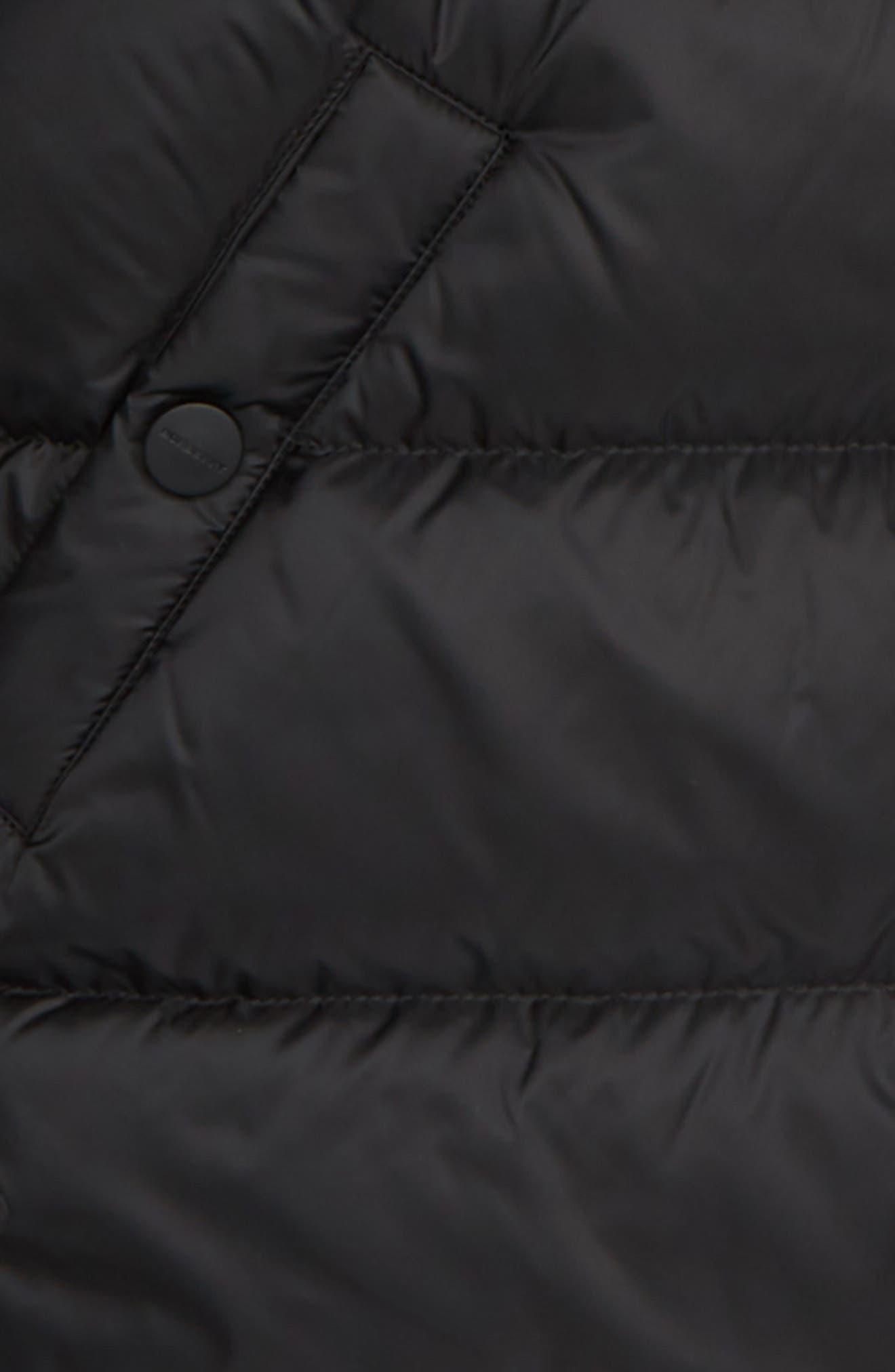 BURBERRY, Waterproof Down Puffer Coat, Alternate thumbnail 2, color, 001