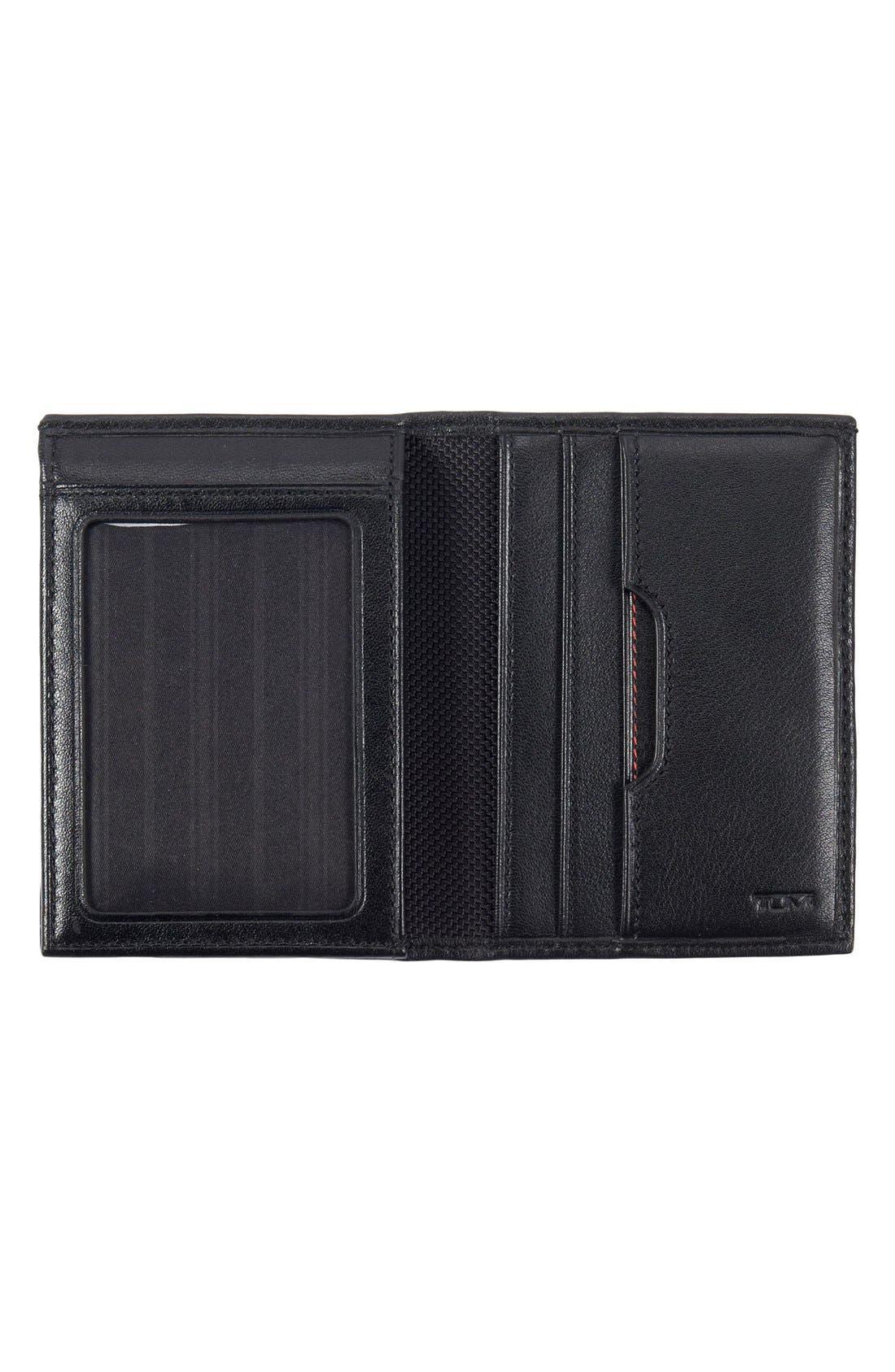 TUMI, Delta - ID Lock Shielded L-Fold ID Wallet, Alternate thumbnail 3, color, BLACK