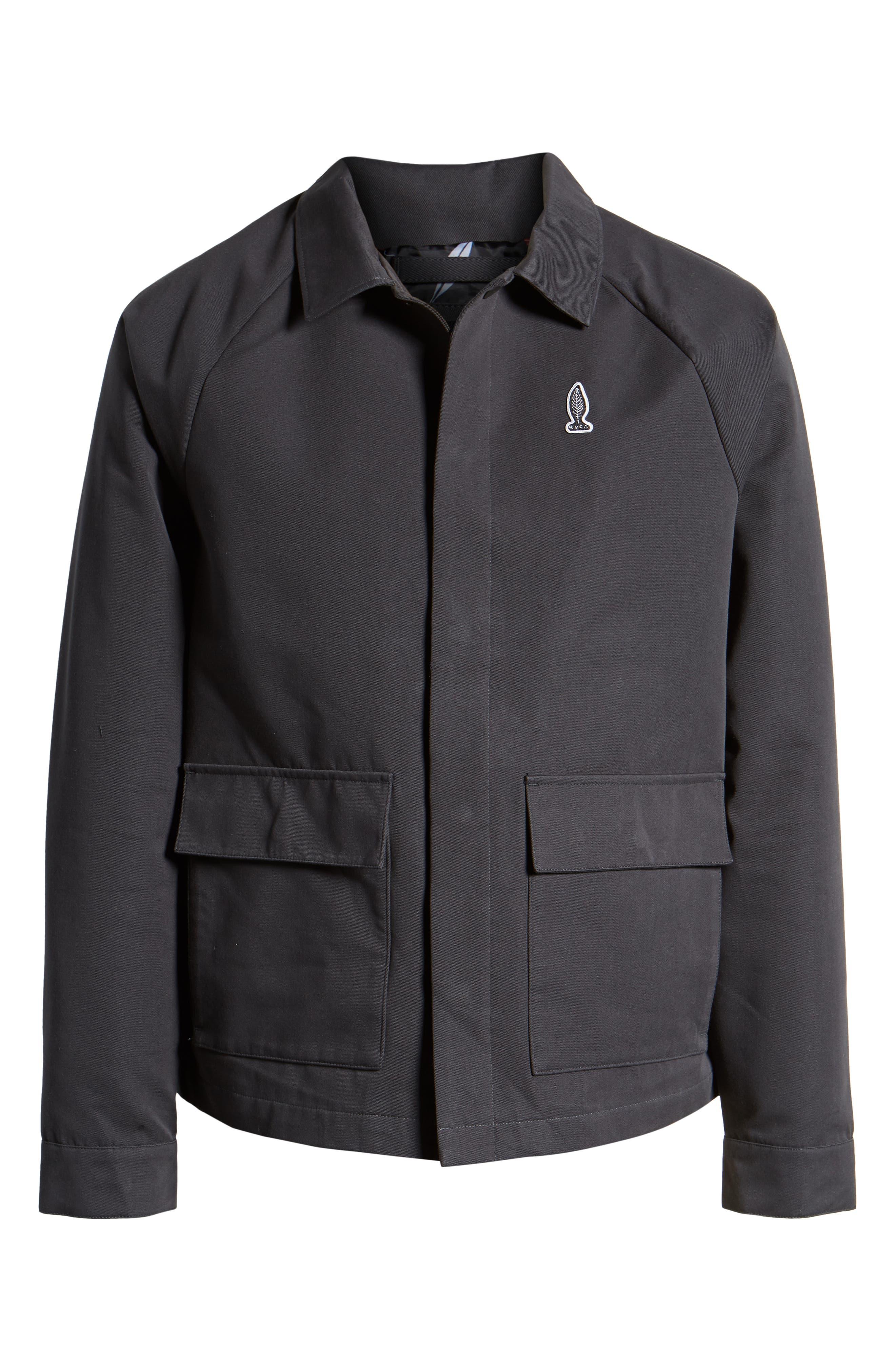 RVCA, Gerrard Jacket, Alternate thumbnail 6, color, PIRATE BLACK