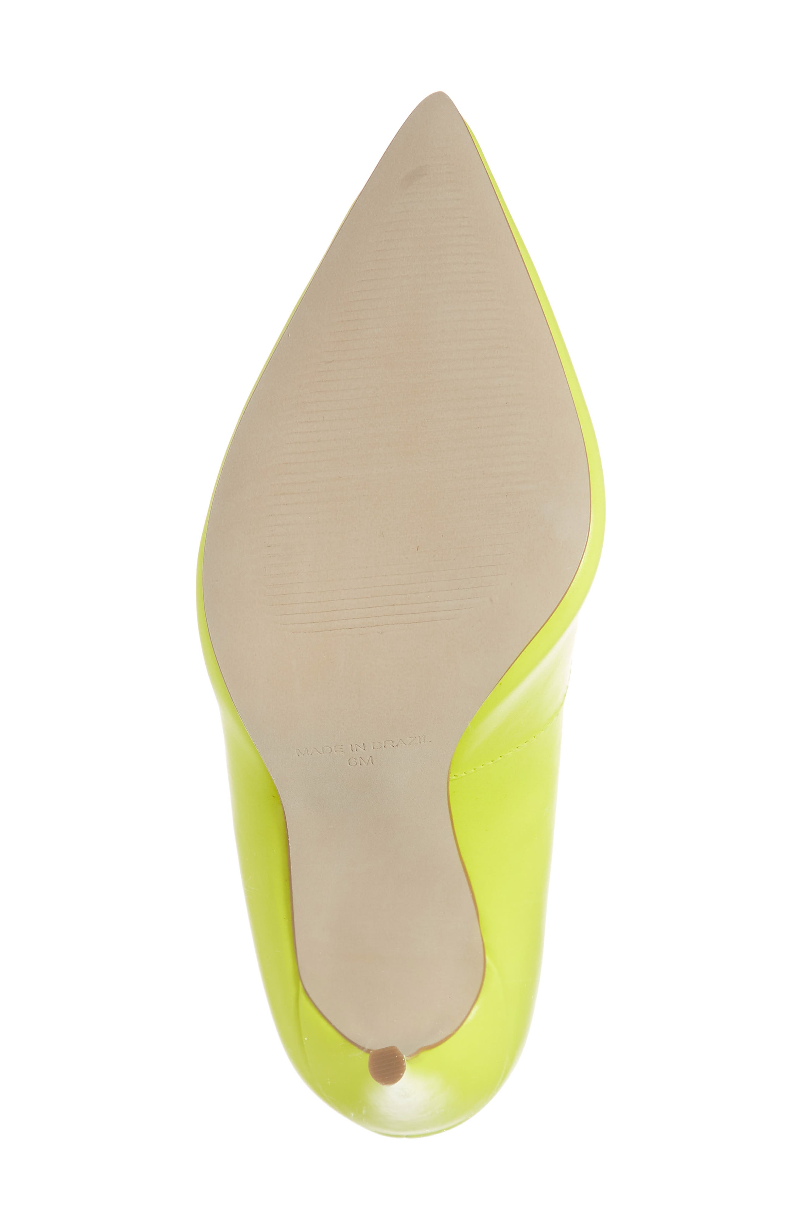 STEVE MADDEN, Daisie Pointy-Toe Pump, Alternate thumbnail 6, color, LIME