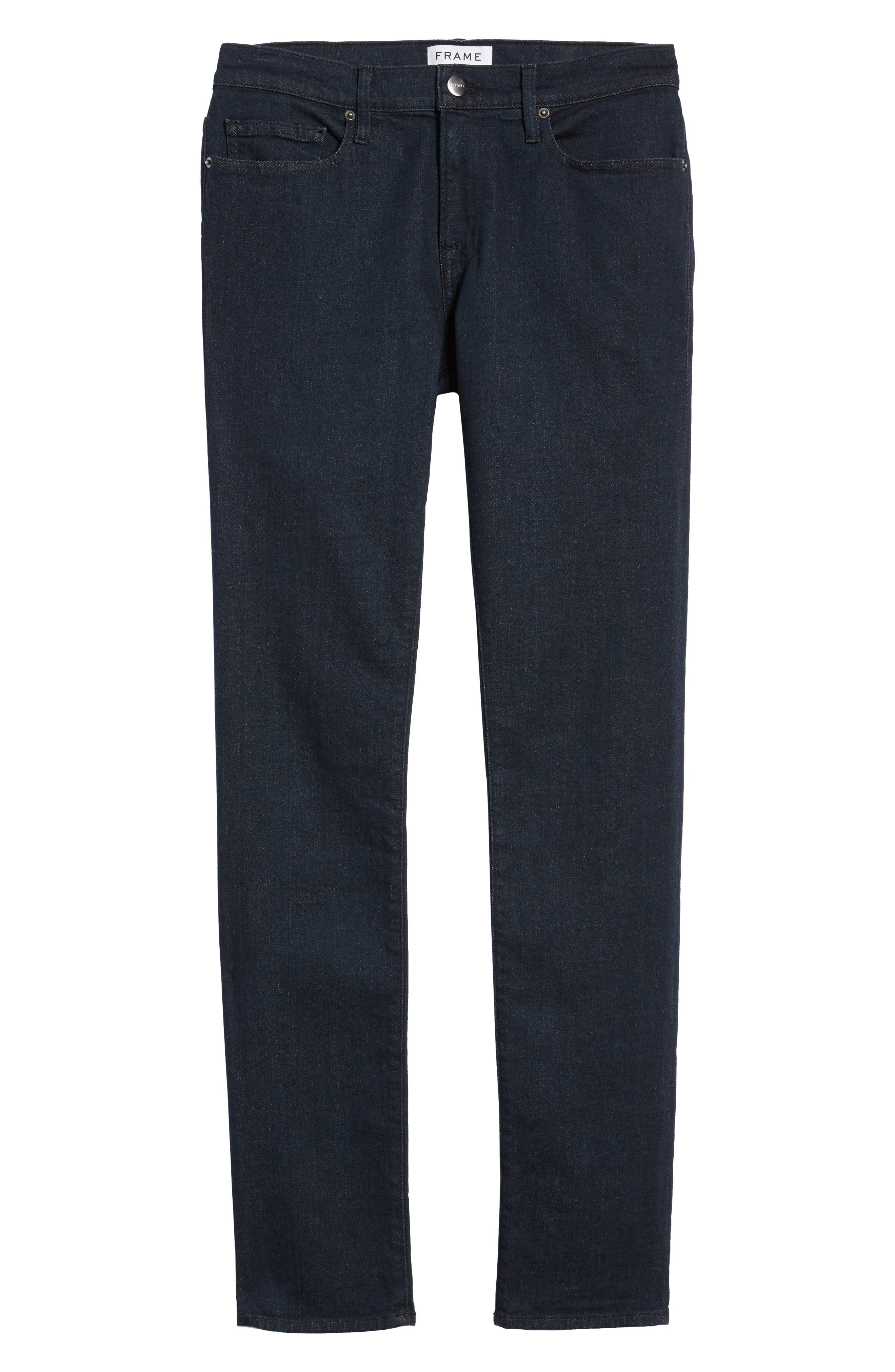 FRAME, L'Homme Skinny Fit Jeans, Alternate thumbnail 6, color, EDISON