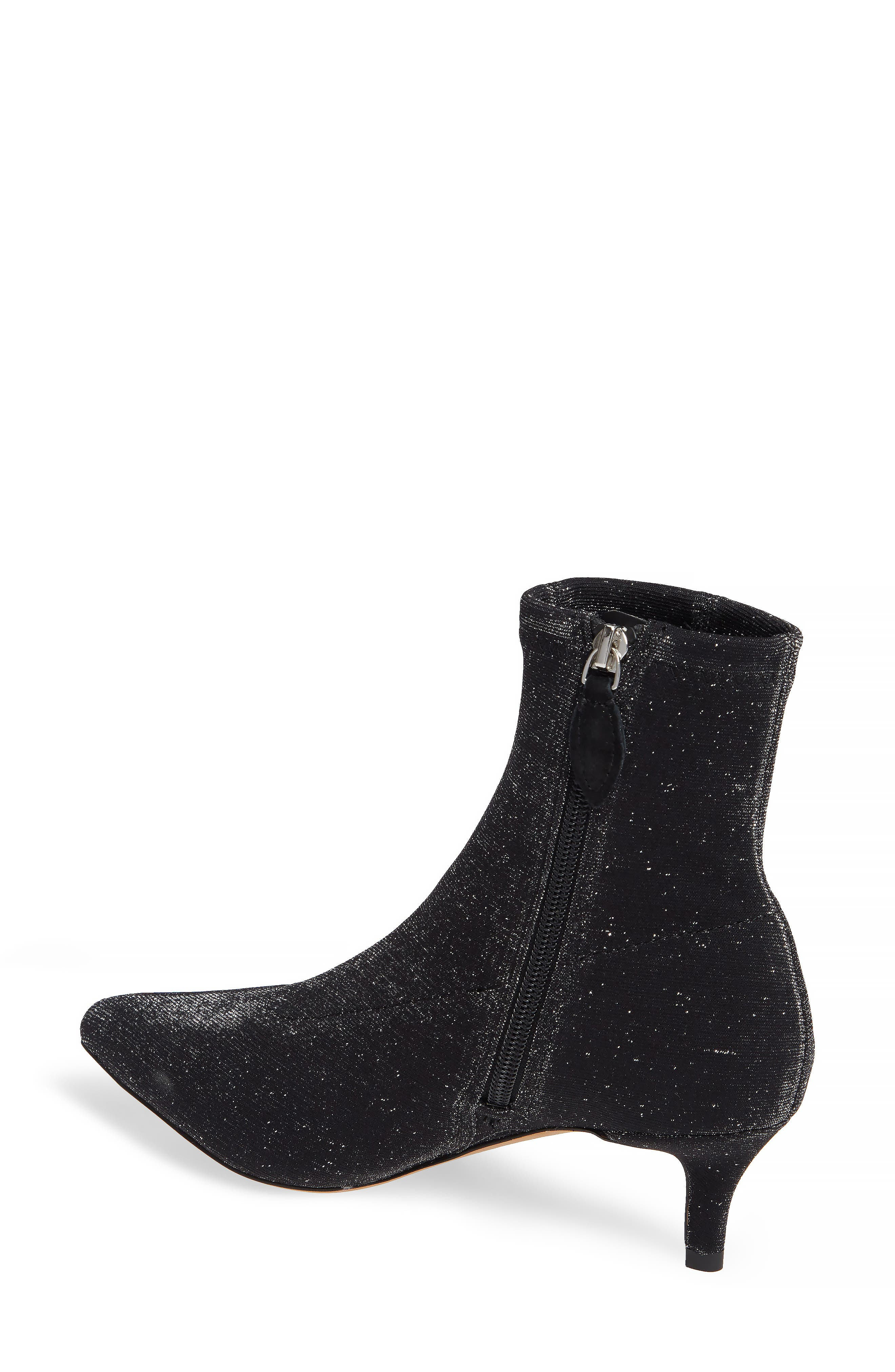 REBECCA MINKOFF, Sayres Bootie, Alternate thumbnail 2, color, BLACK FABRIC