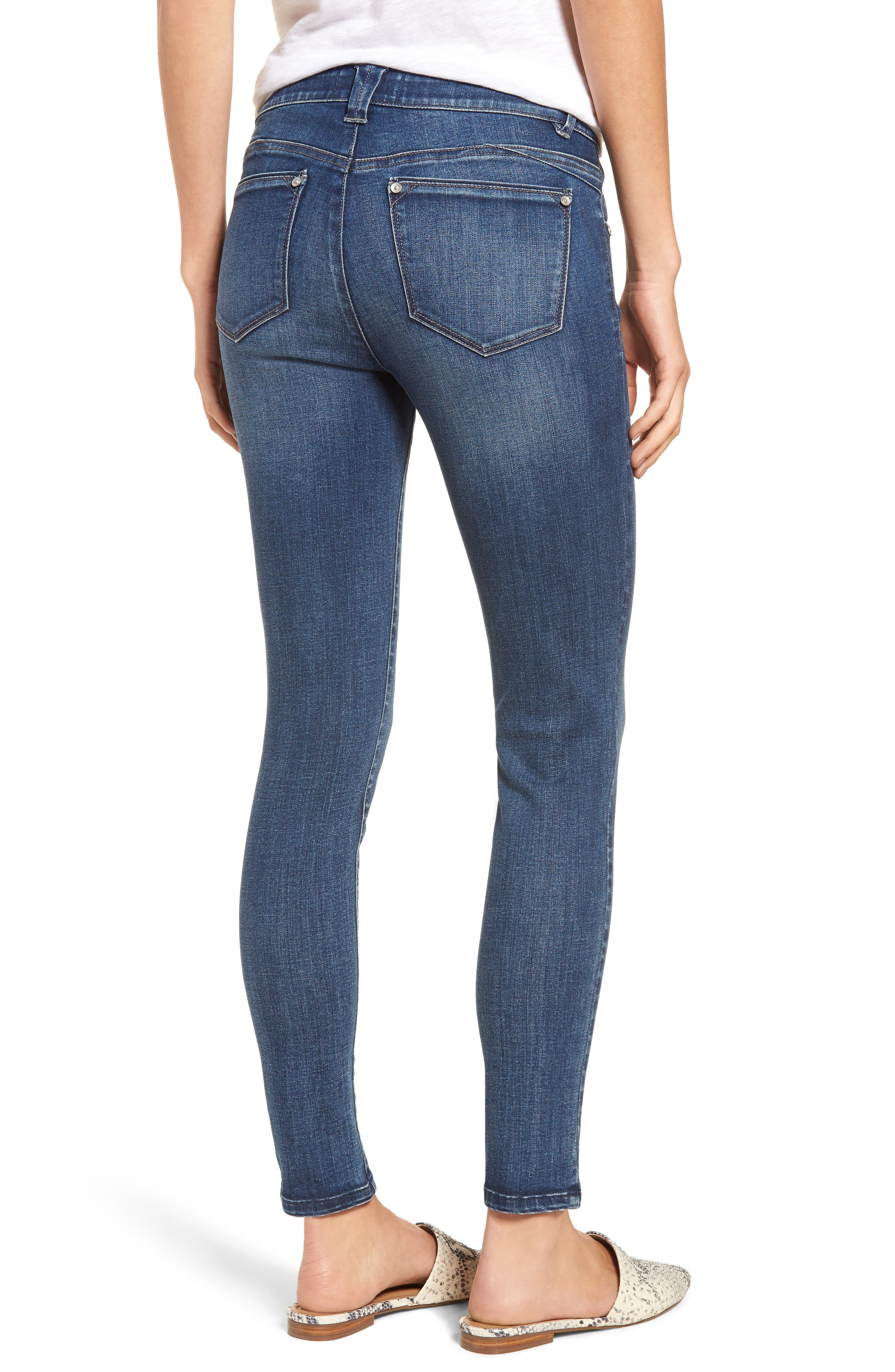 WIT & WISDOM, Ab-solution Ankle Skinny Jeans, Alternate thumbnail 2, color, BLUE