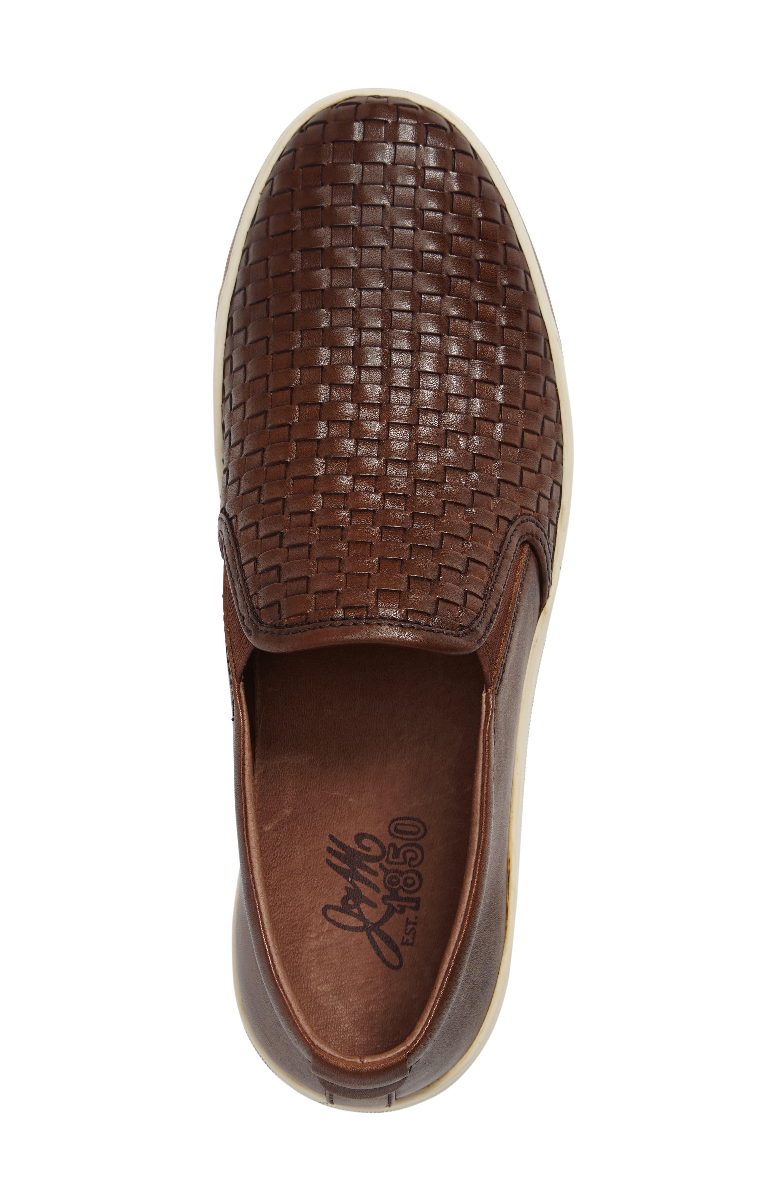 J&M 1850, Allister Slip-On Sneaker, Alternate thumbnail 3, color, TAN LEATHER