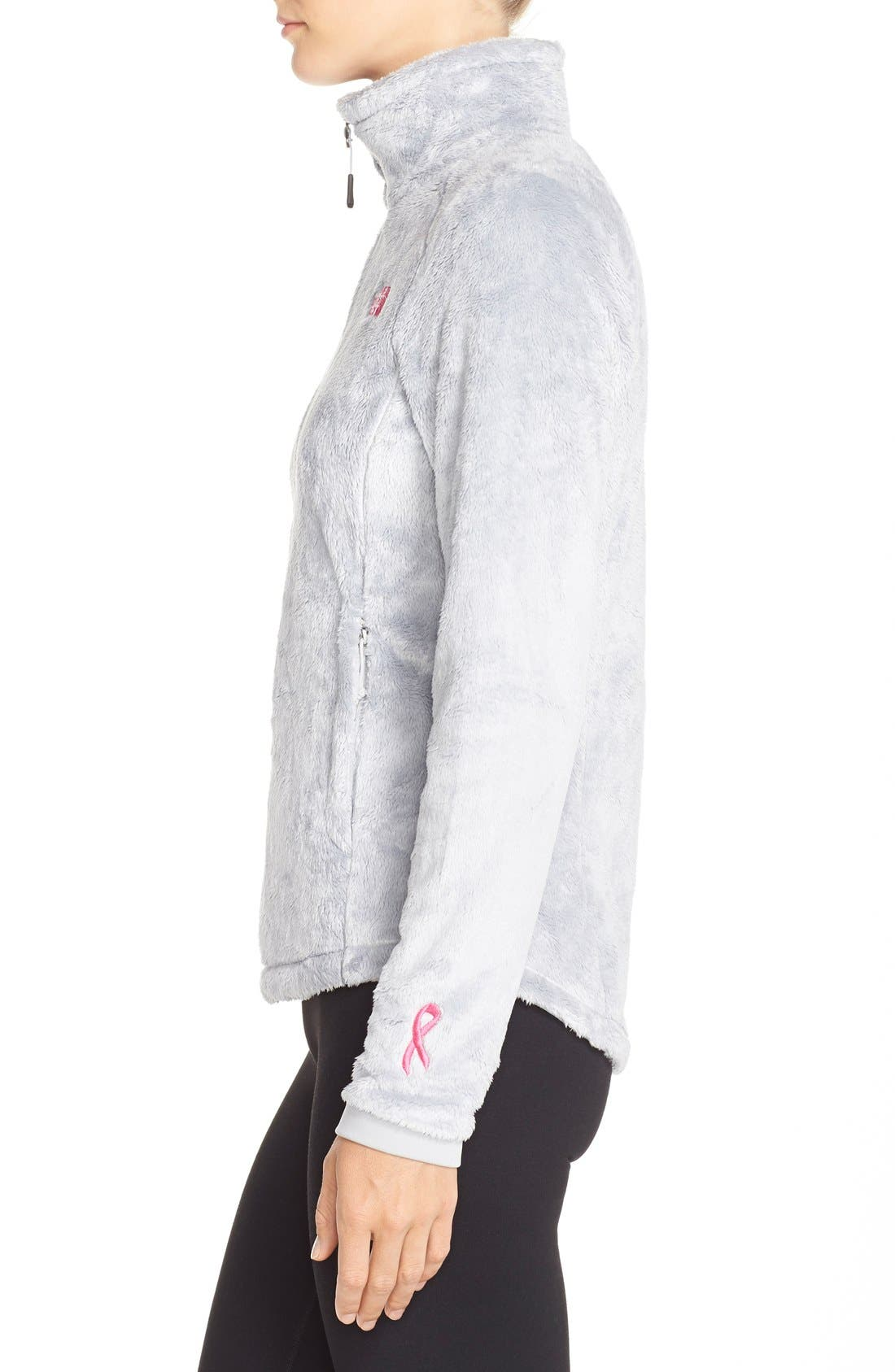 THE NORTH FACE, 'Osito 2 - Pink Ribbon' Fleece Jacket, Alternate thumbnail 2, color, 030
