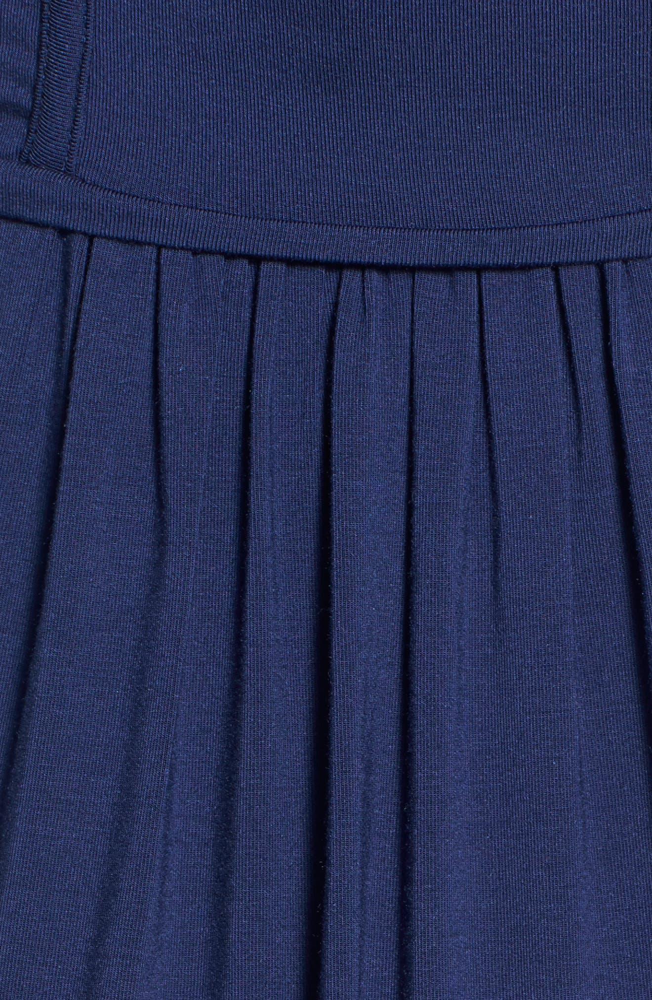TART MATERNITY, 'Mathilde' Elbow Sleeve Maternity Dress, Alternate thumbnail 5, color, PEACOAT