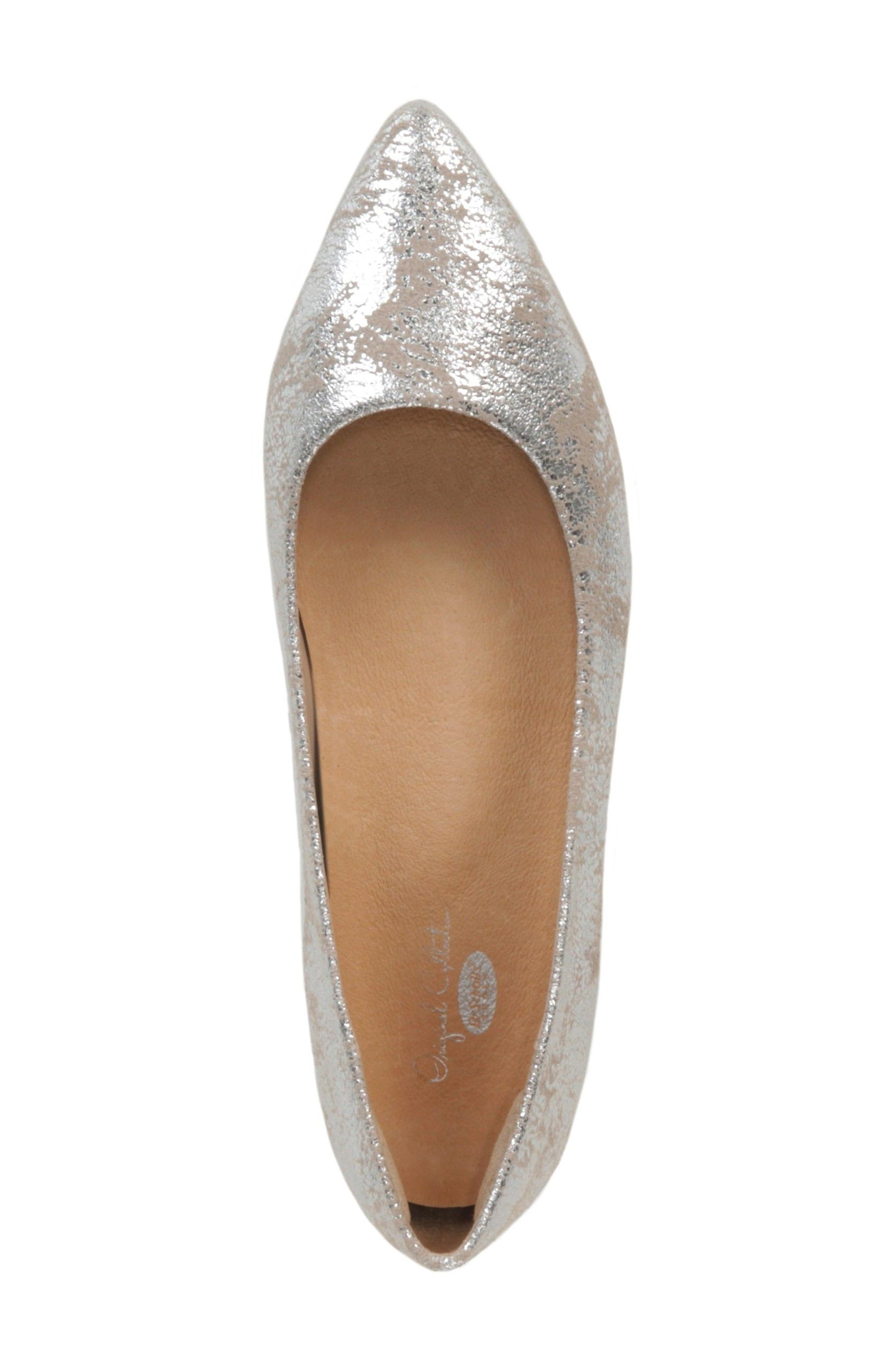 DR. SCHOLL'S, Original Collection Kimber Flat, Alternate thumbnail 5, color, PEWTER LEATHER