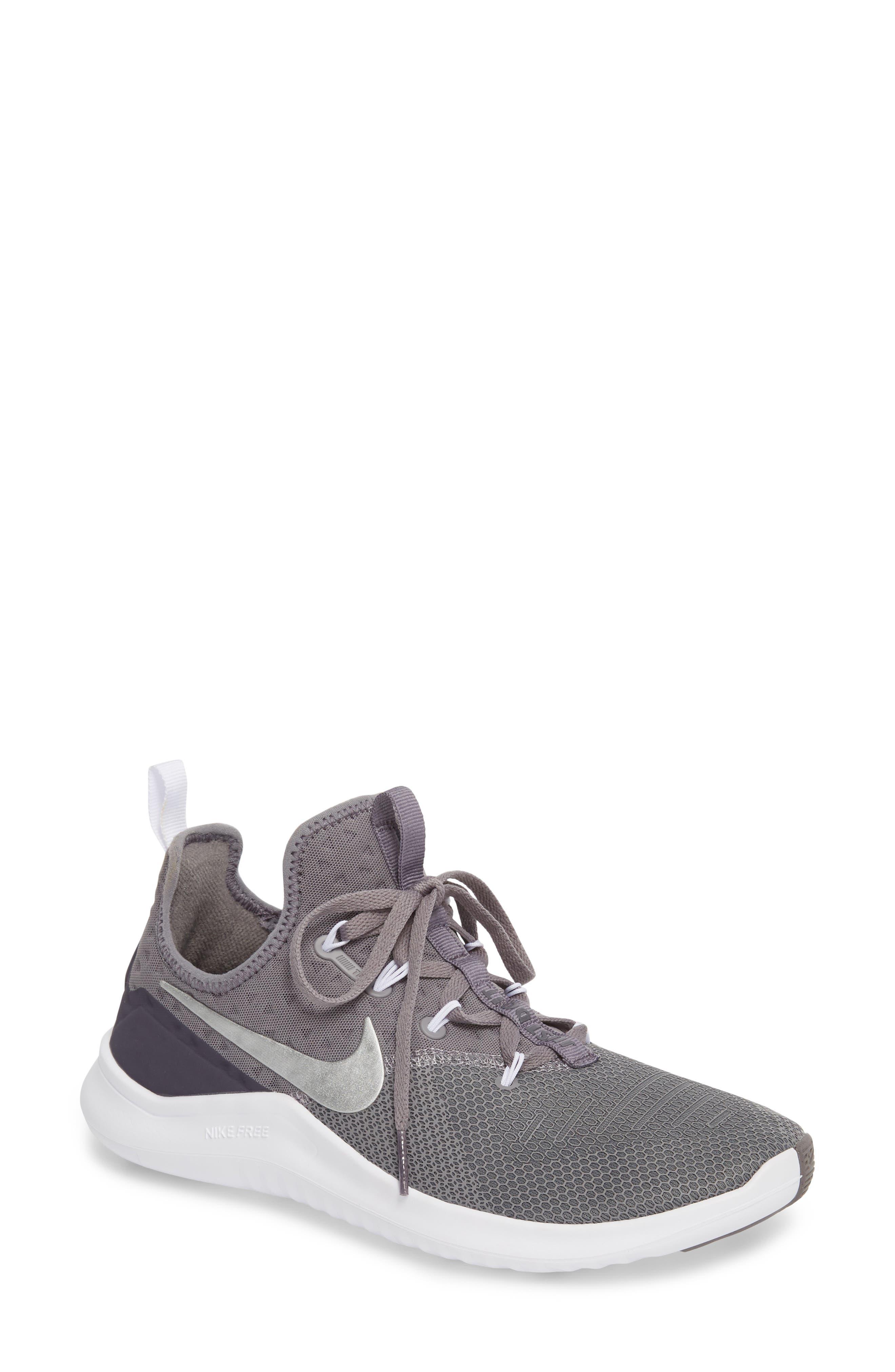 NIKE Free TR8 Training Shoe, Main, color, GUNSMOKE/ METALLIC SILVER