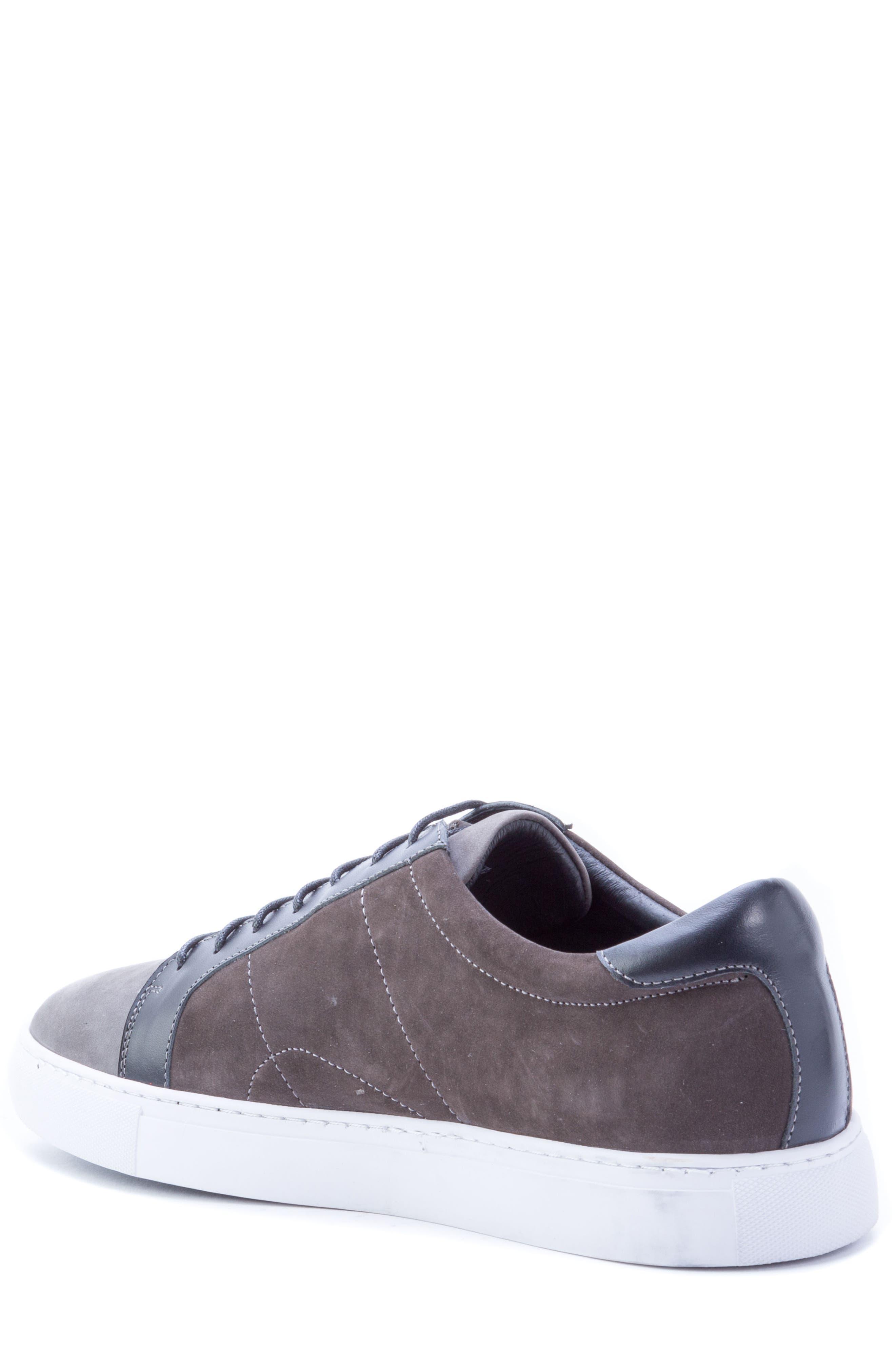 ROBERT GRAHAM, Gonzalo Low Top Sneaker, Alternate thumbnail 2, color, GREY SUEDE