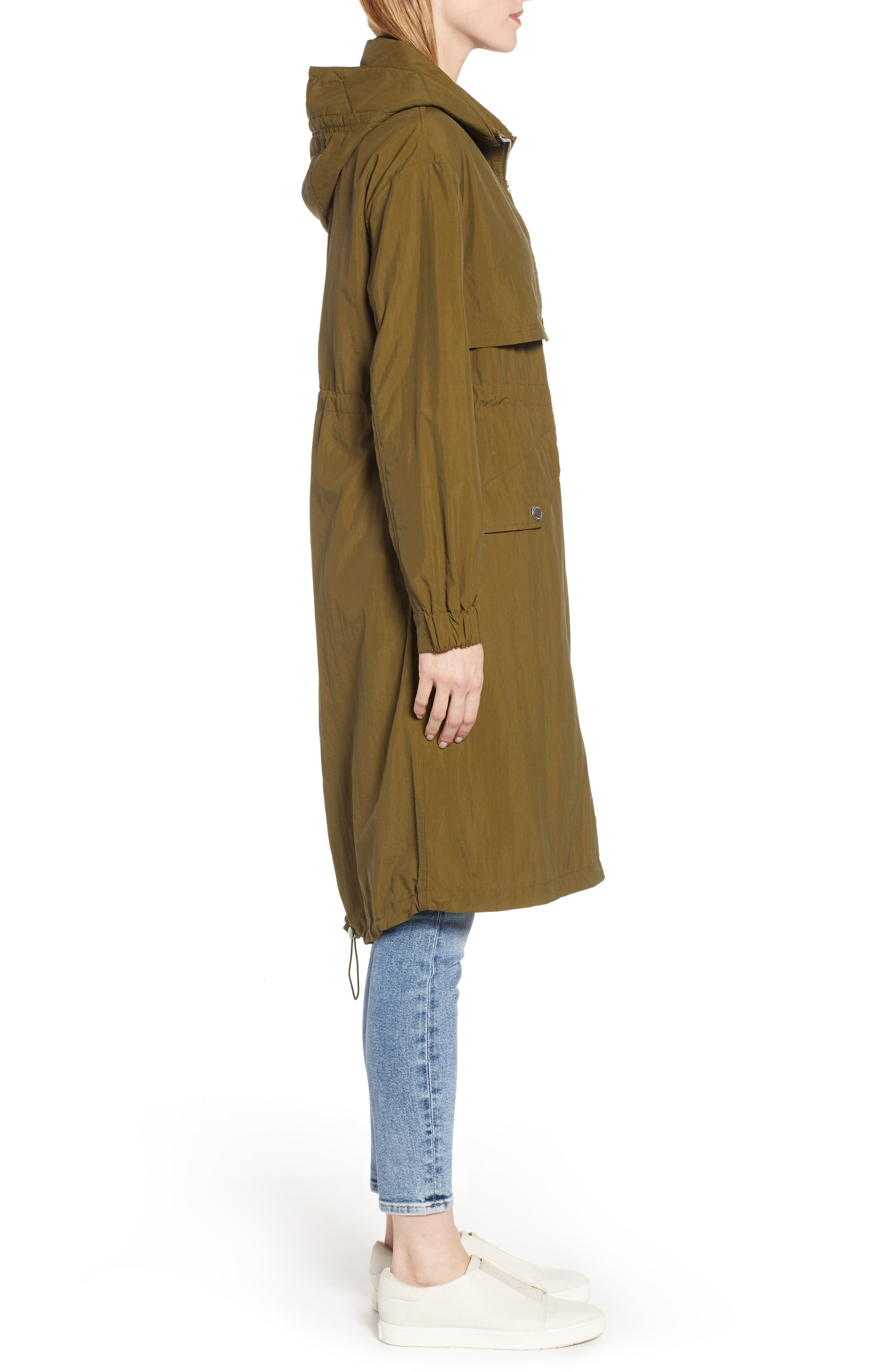 KENNETH COLE NEW YORK, Hooded Parka, Alternate thumbnail 4, color, OLIVE
