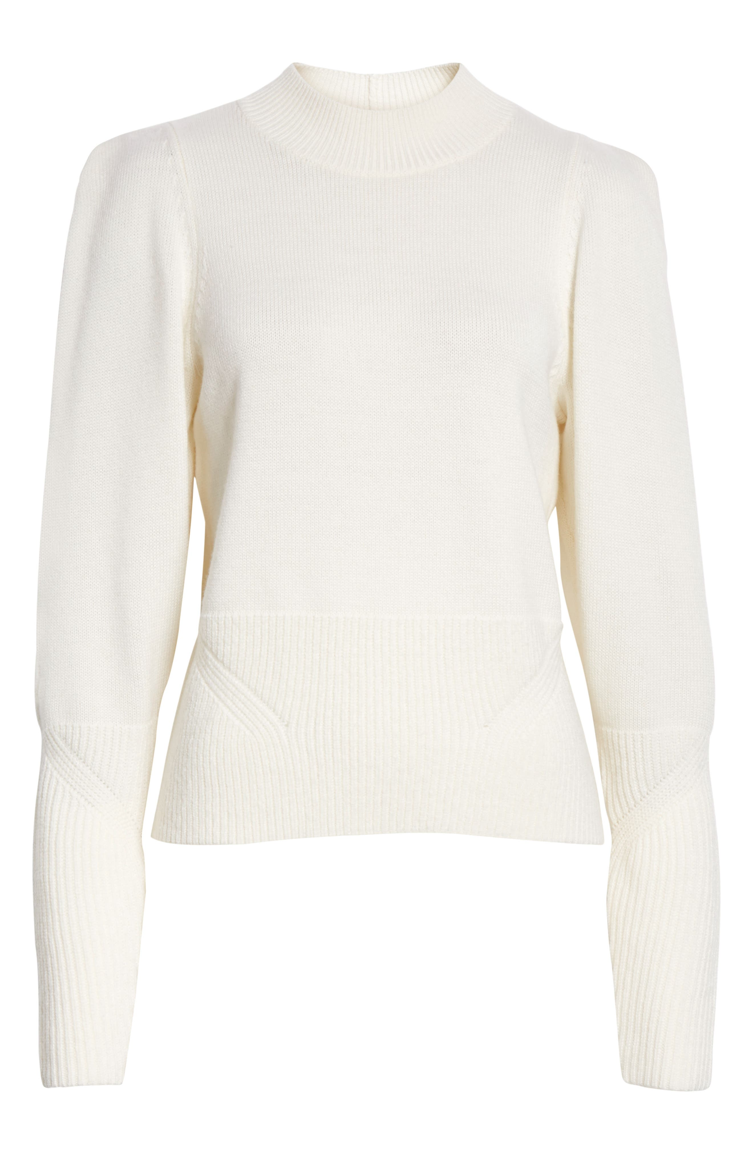 JOIE, Marquetta Sweater, Alternate thumbnail 6, color, 100