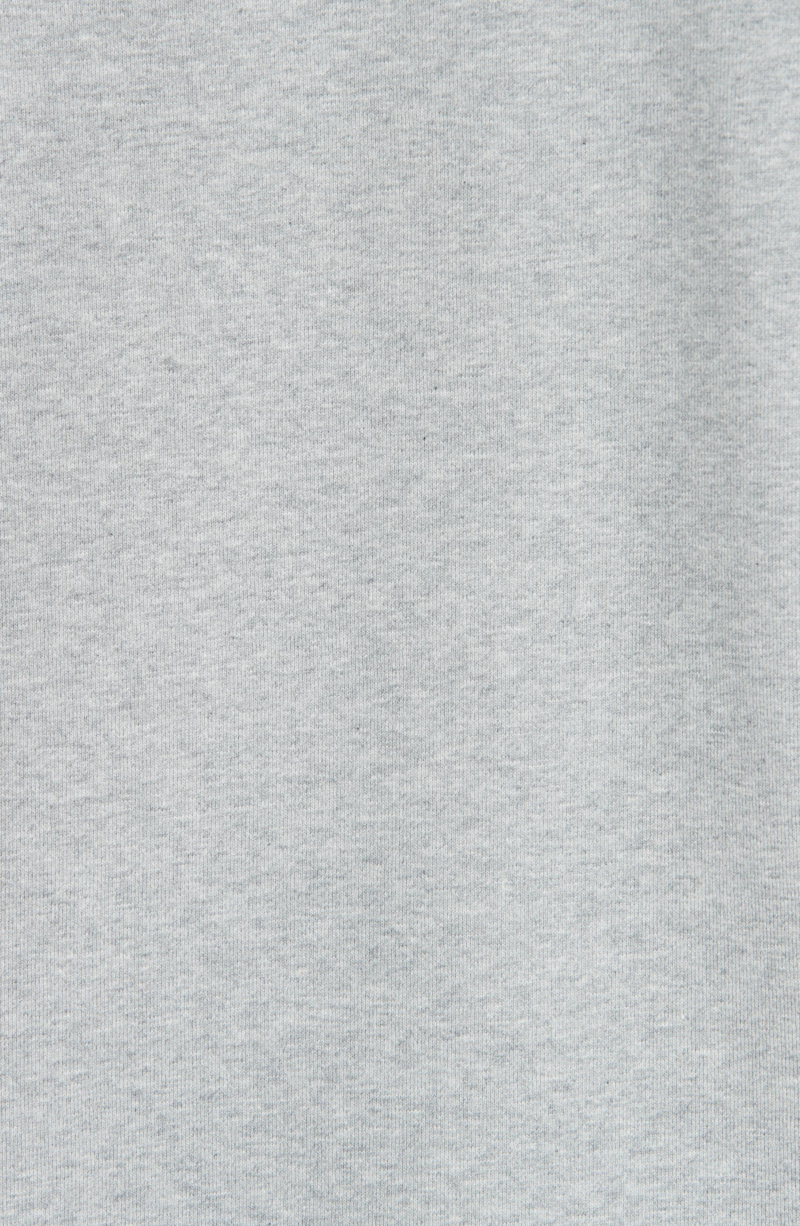 LOEWE, Embroidered Anagram Logo Sweatshirt, Alternate thumbnail 5, color, 1120 GREY