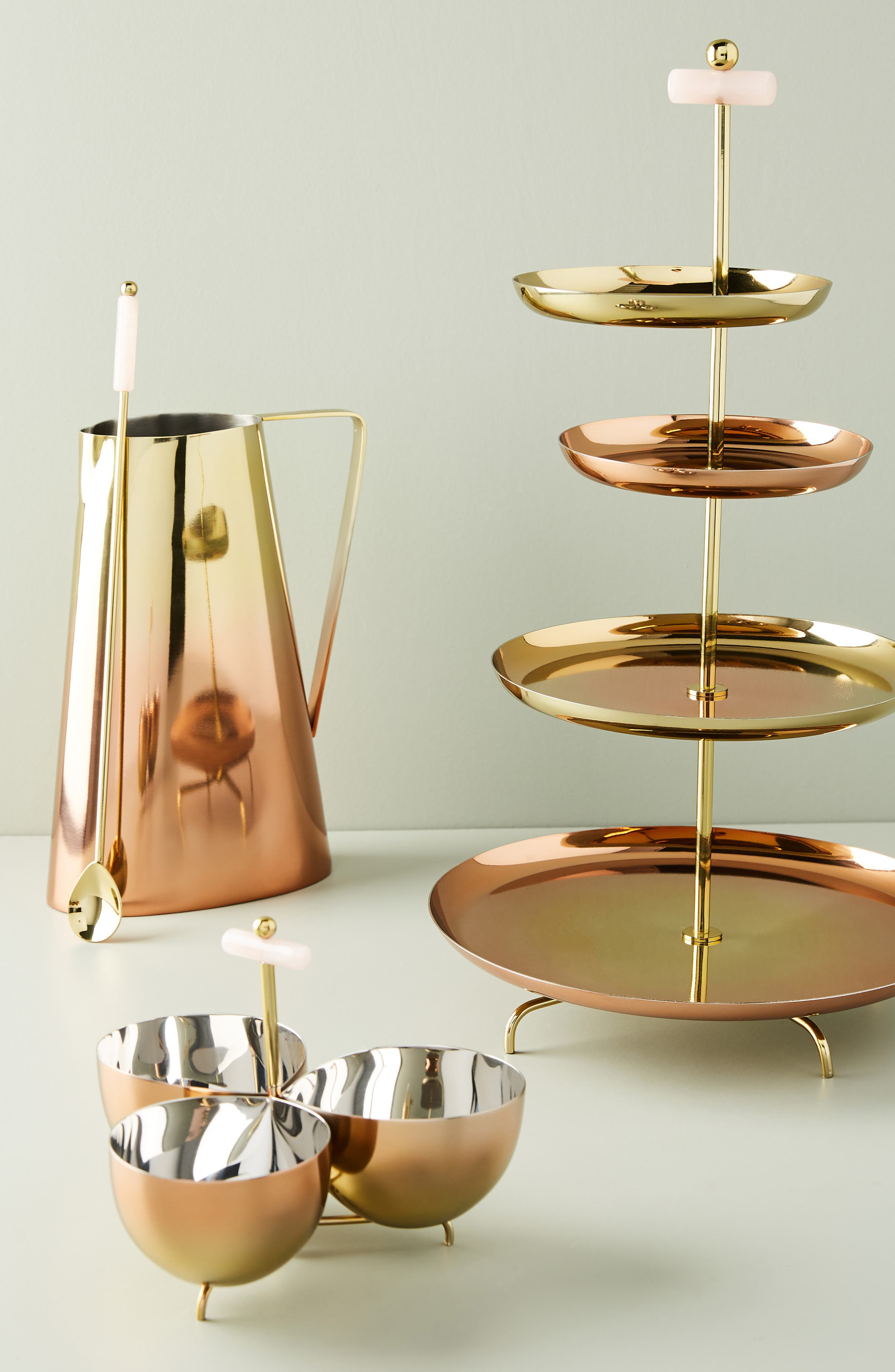 ANTHROPOLOGIE, Glam Cookie Stand, Alternate thumbnail 3, color, FLAME