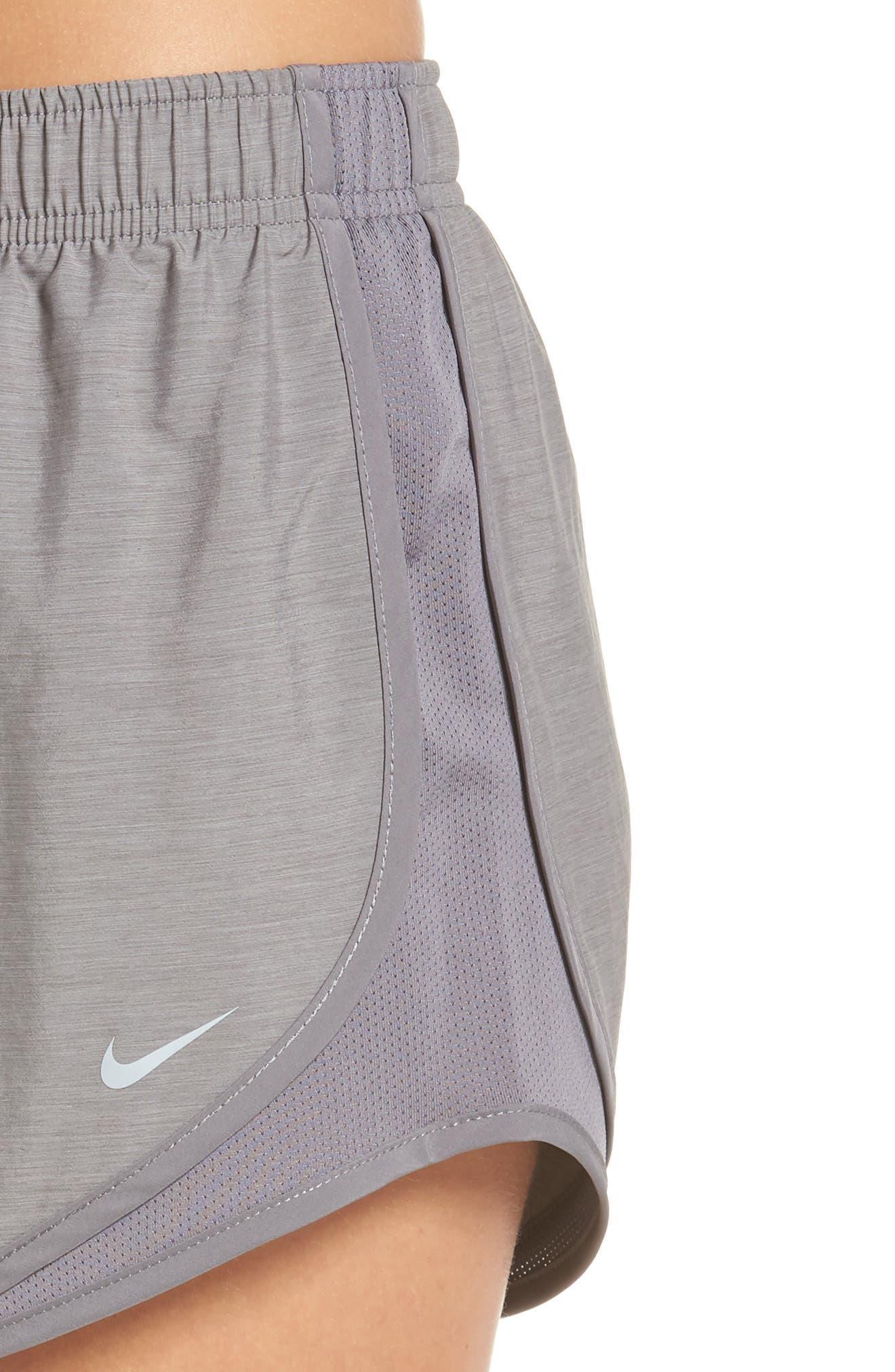 NIKE, Dry Tempo Running Shorts, Alternate thumbnail 5, color, GUNSMOKE/ WOLF GREY