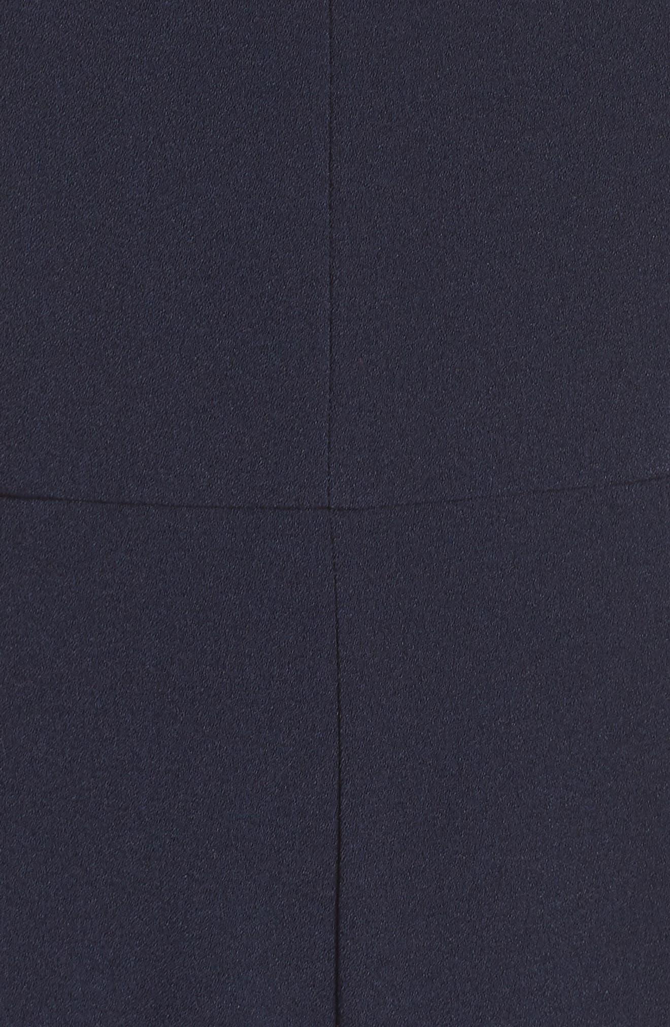 JULIA JORDAN, Halter Wide Leg Jumpsuit, Alternate thumbnail 6, color, NAVY