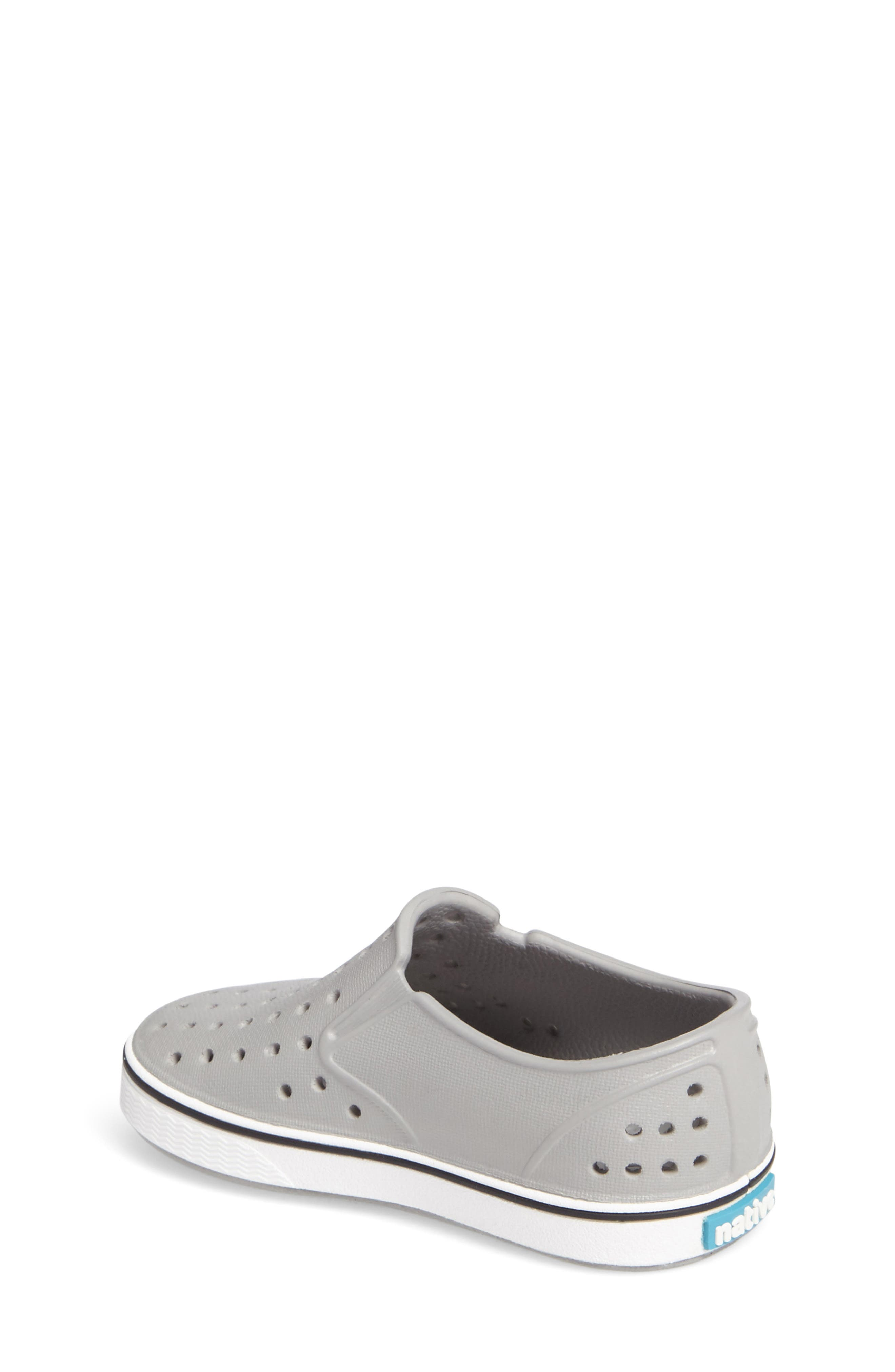 NATIVE SHOES, Miles Water Friendly Slip-On Vegan Sneaker, Alternate thumbnail 2, color, PIGEON GREY/ SHELL WHITE